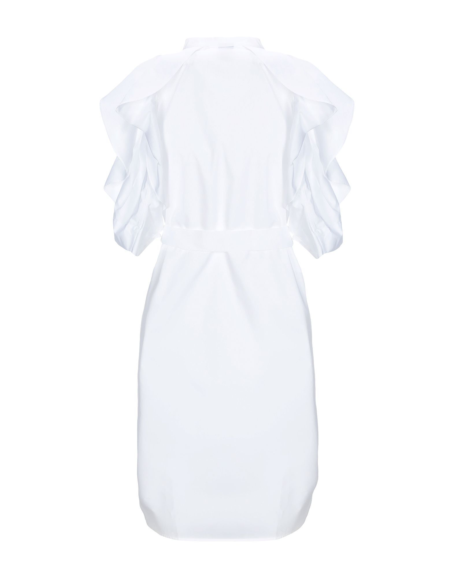Pinko White Cotton Short Dress