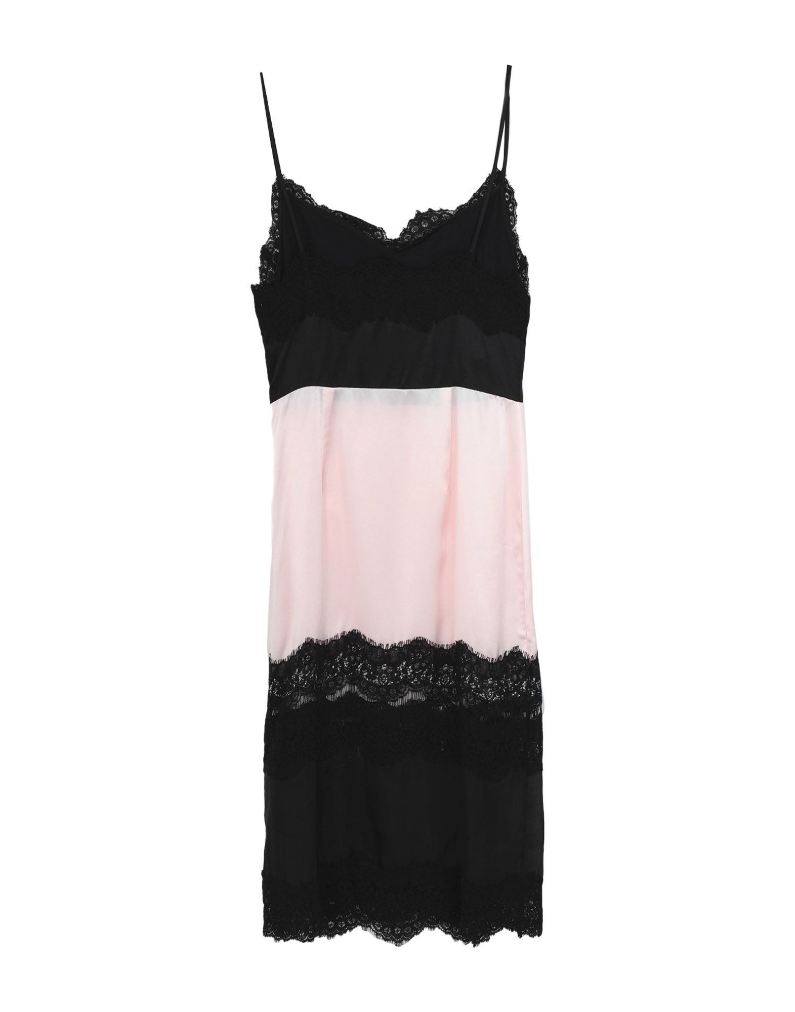 Pinko Pink Colourblock Silk Camisole Dress