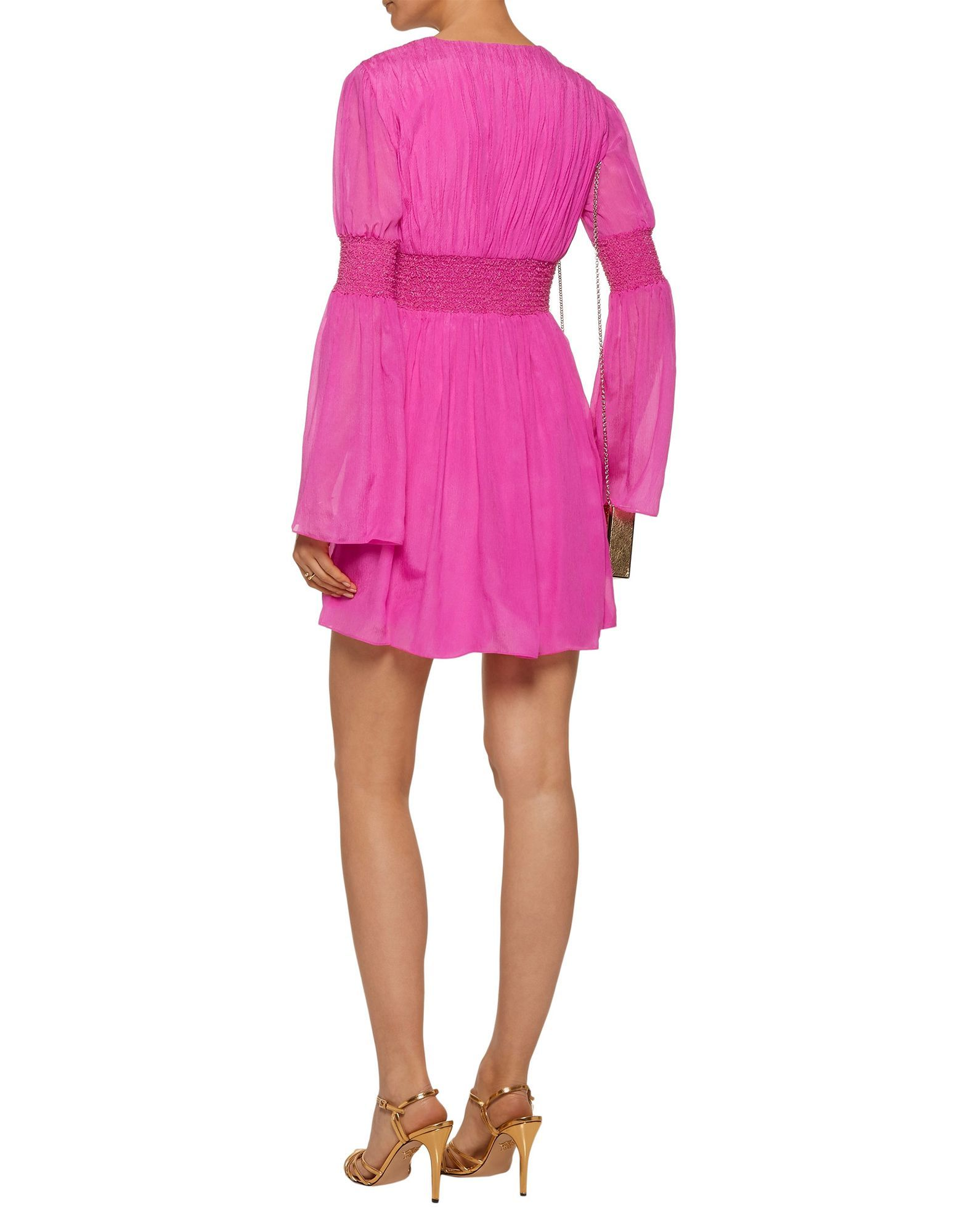 Rachel Zoe Fuchsia Silk Long Sleeve Dress