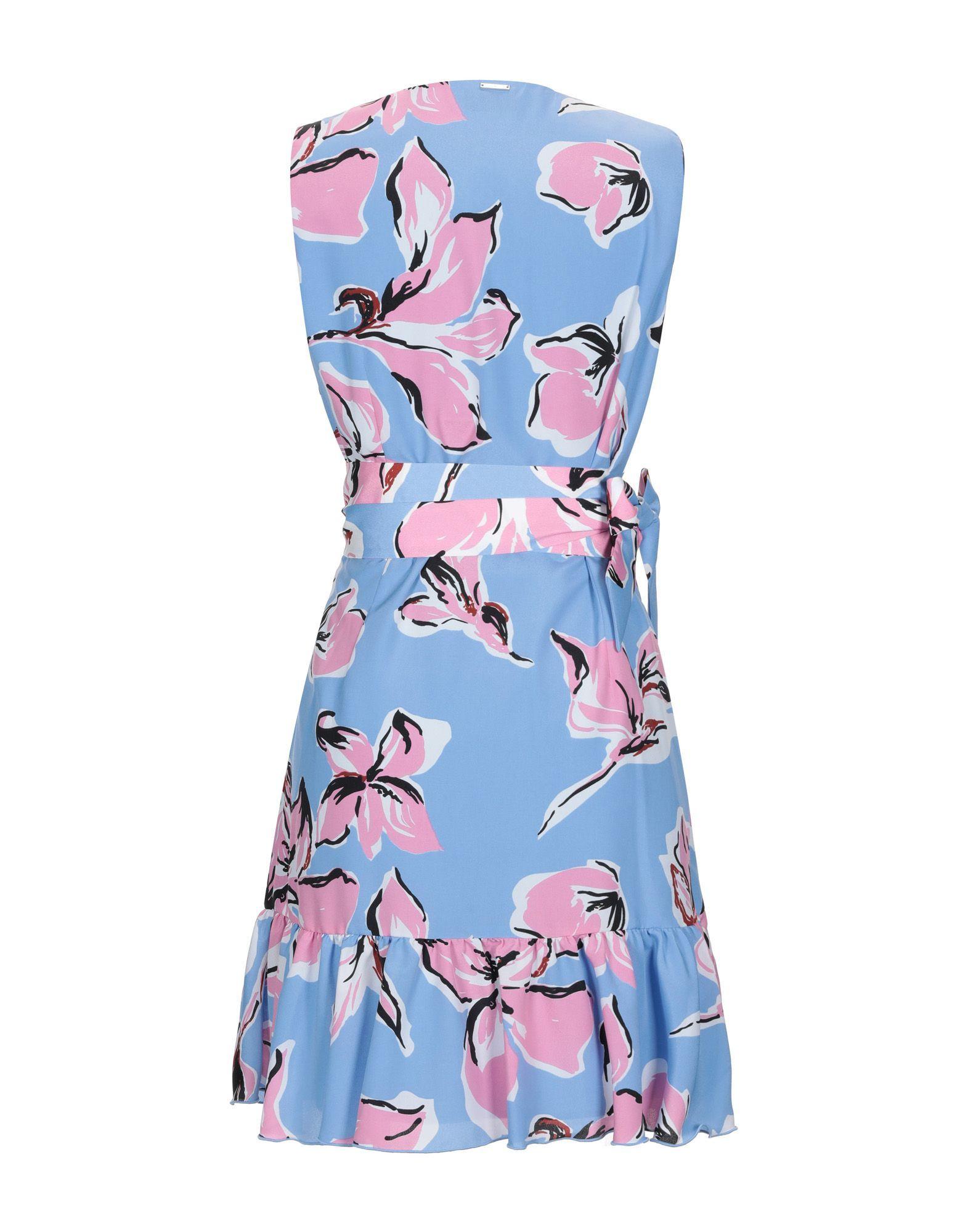 Liu Jo Sky Blue Print Short Dress