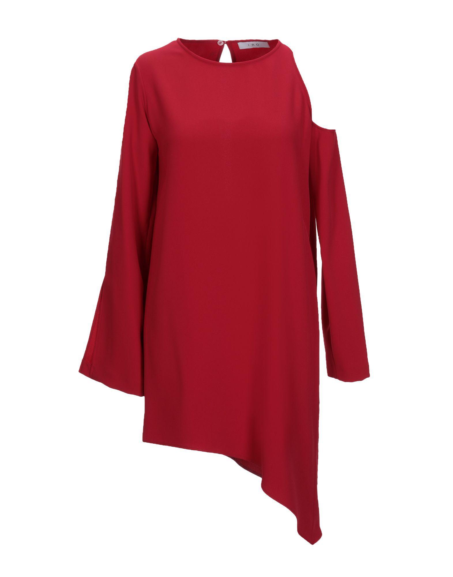 Iro Red Cut Out Shoulder Dress