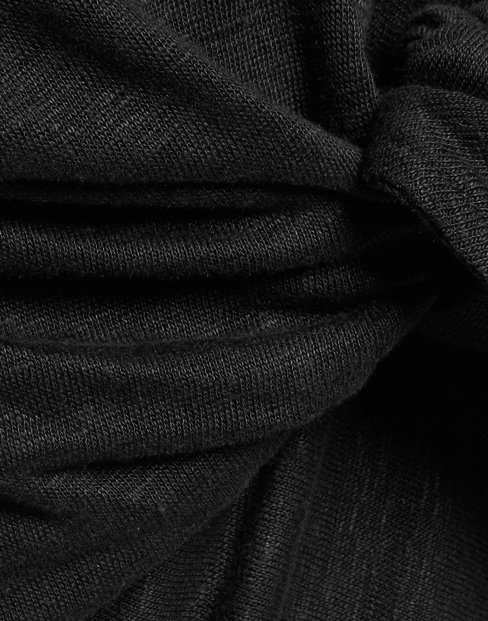 Iro Black Linen Short Sleeve Dress