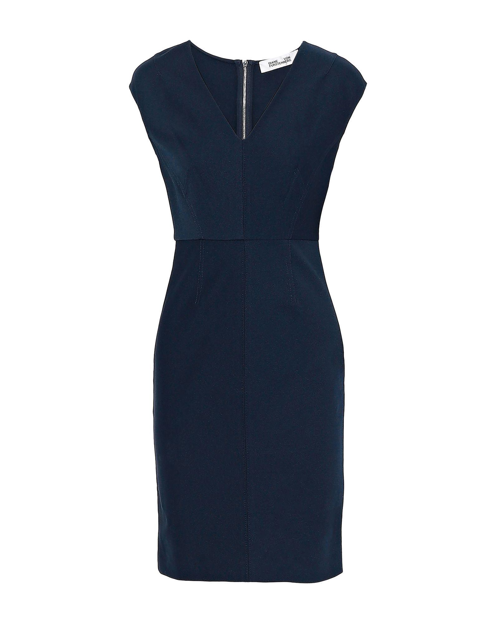 Diane Von Furstenberg Dark Blue Pencil Style Dress