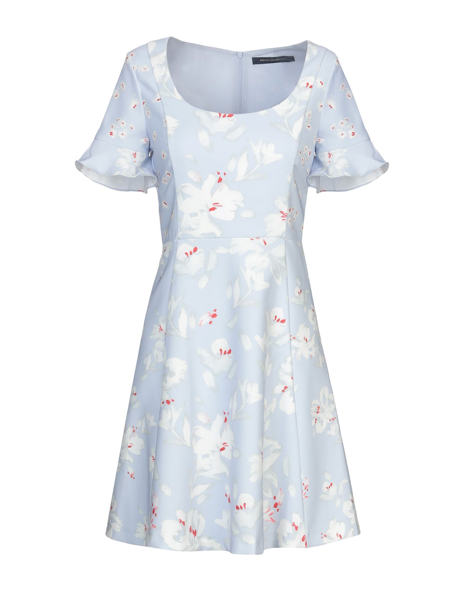French Connection Sky Blue Print Dress