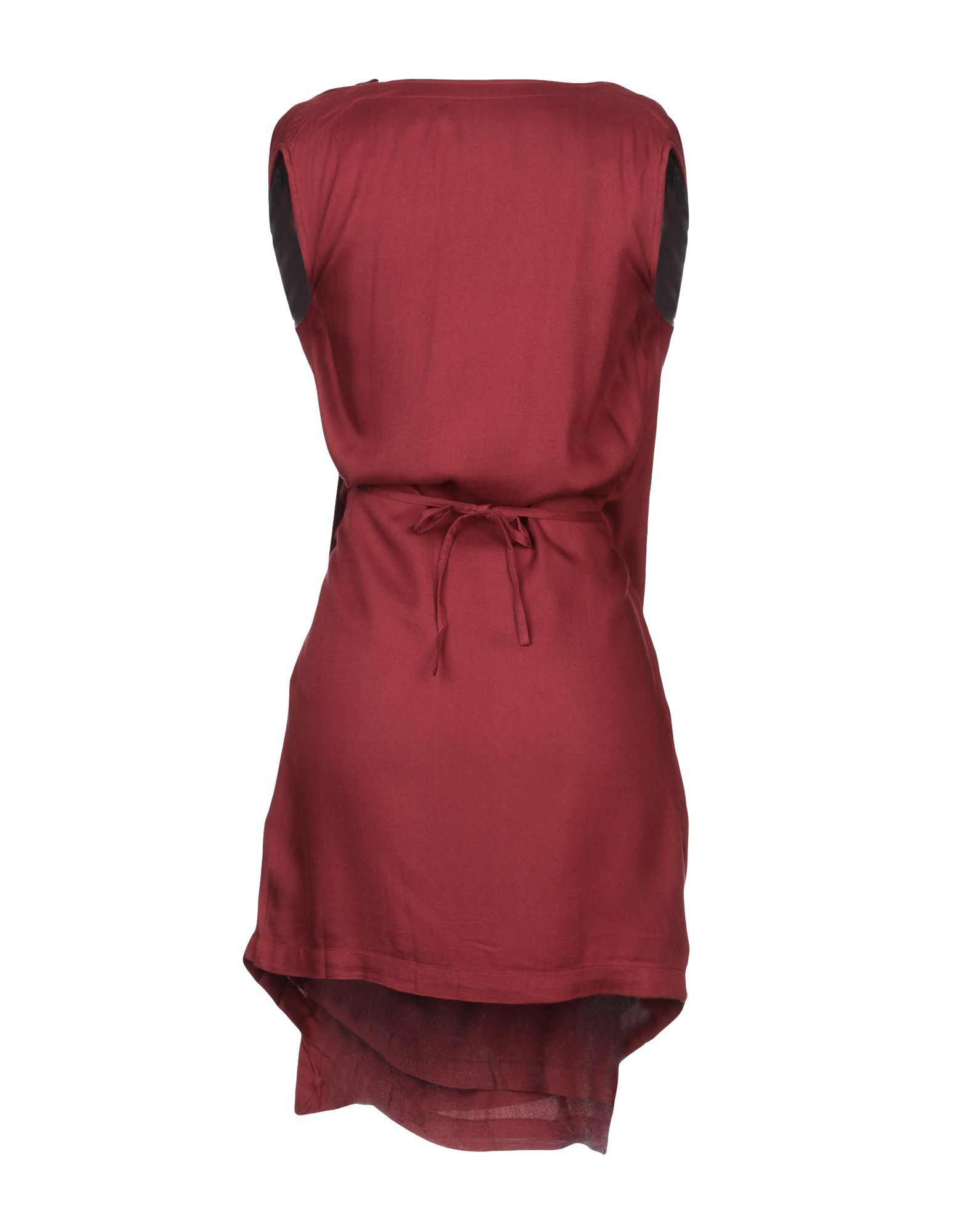 Bolongaro Trevor Maroon Draped Dress
