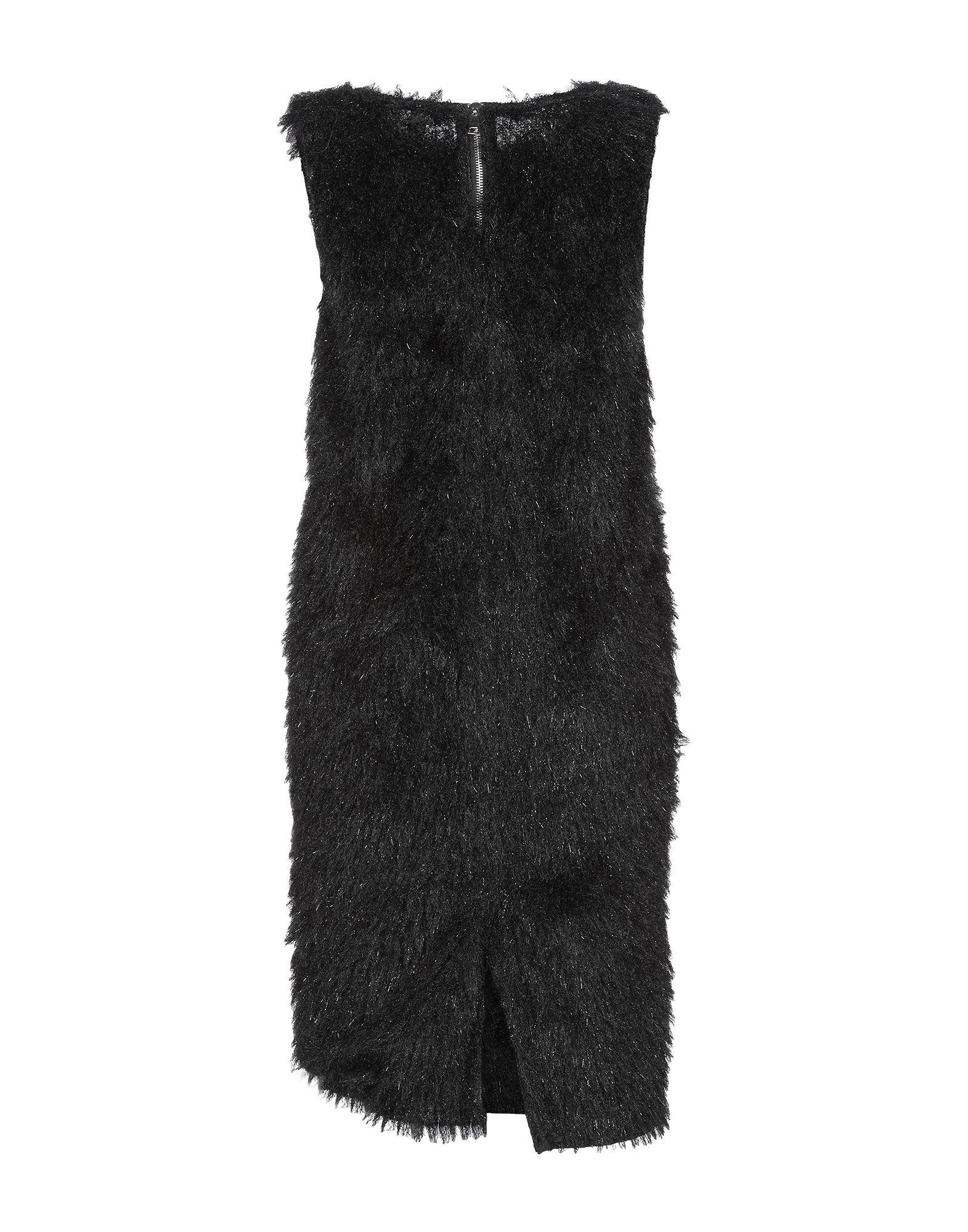Souvenir Black Faux Fur Dress