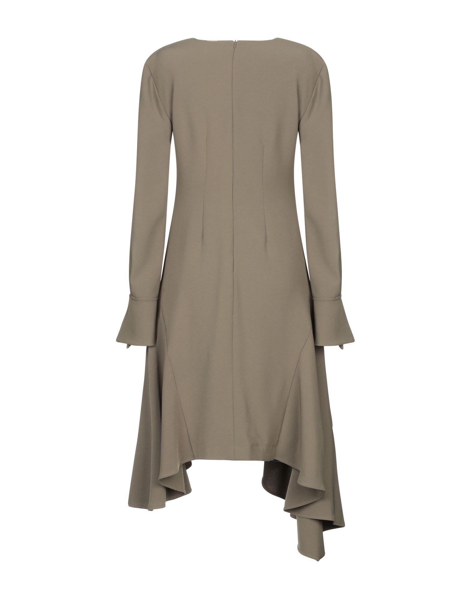 Annarita N Twenty 4H Military Green Crepe Long Sleeve Dress
