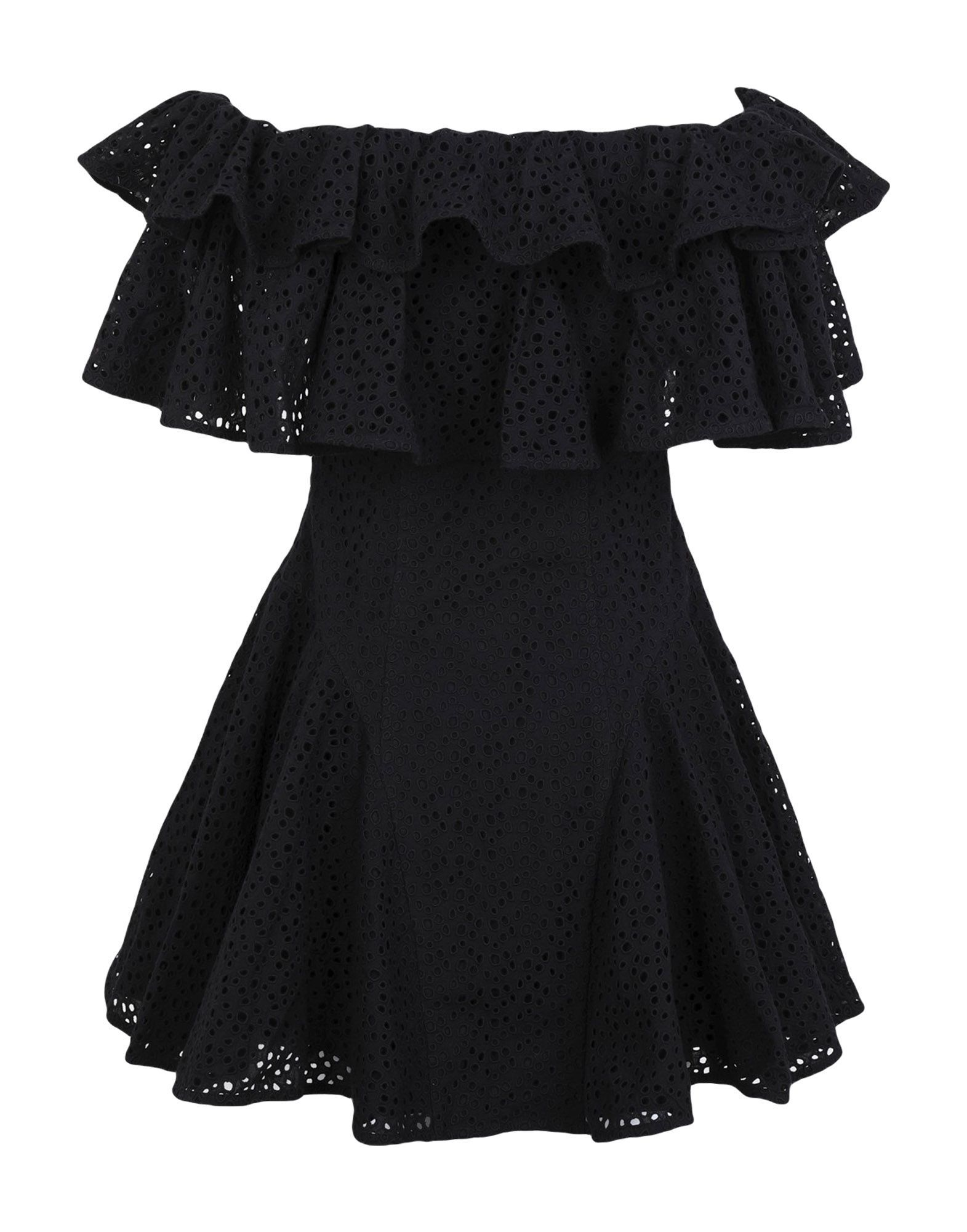 House Of Holland Black Lace Ruffle Dress