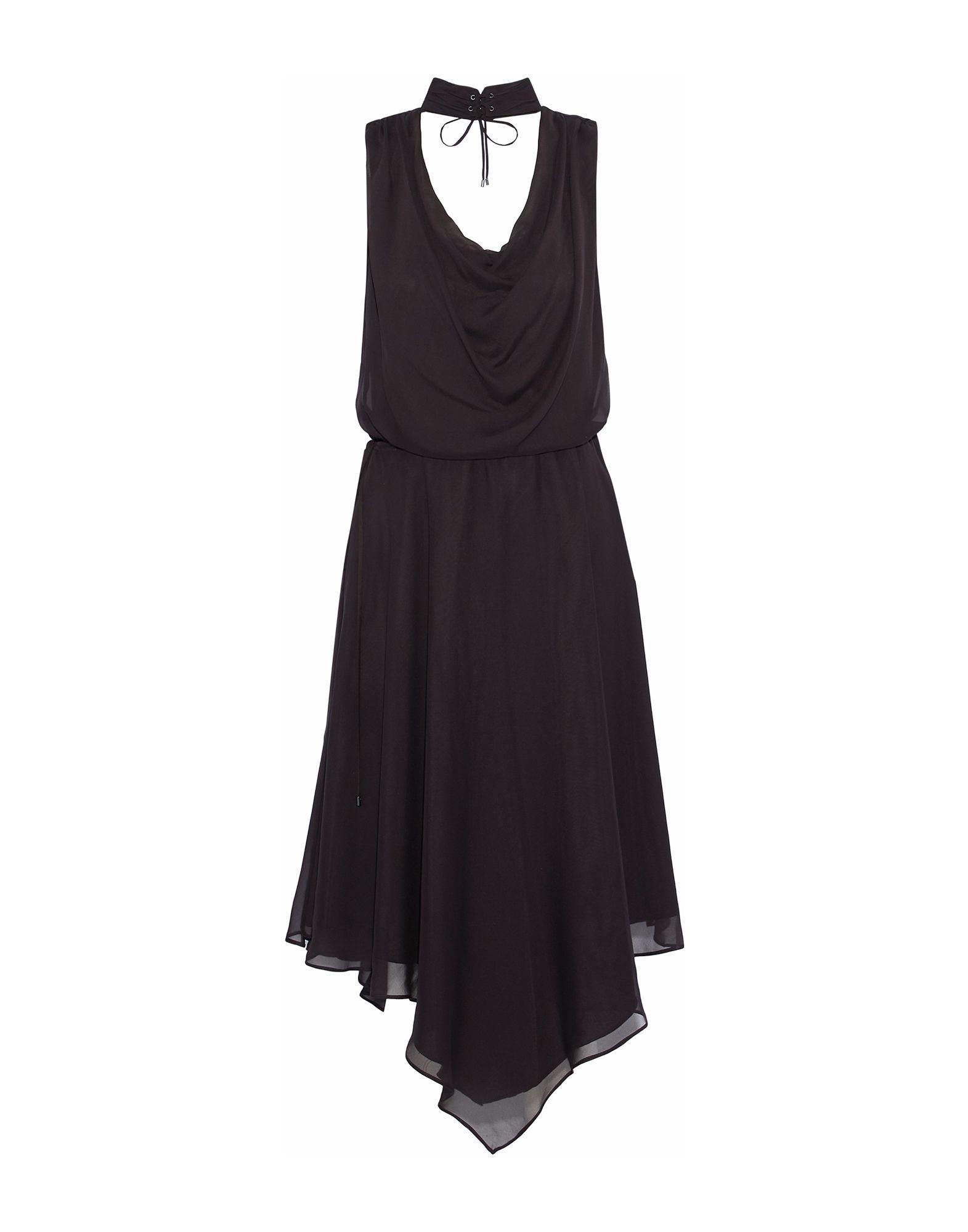 Haute Hippie Dark Brown Silk Dress