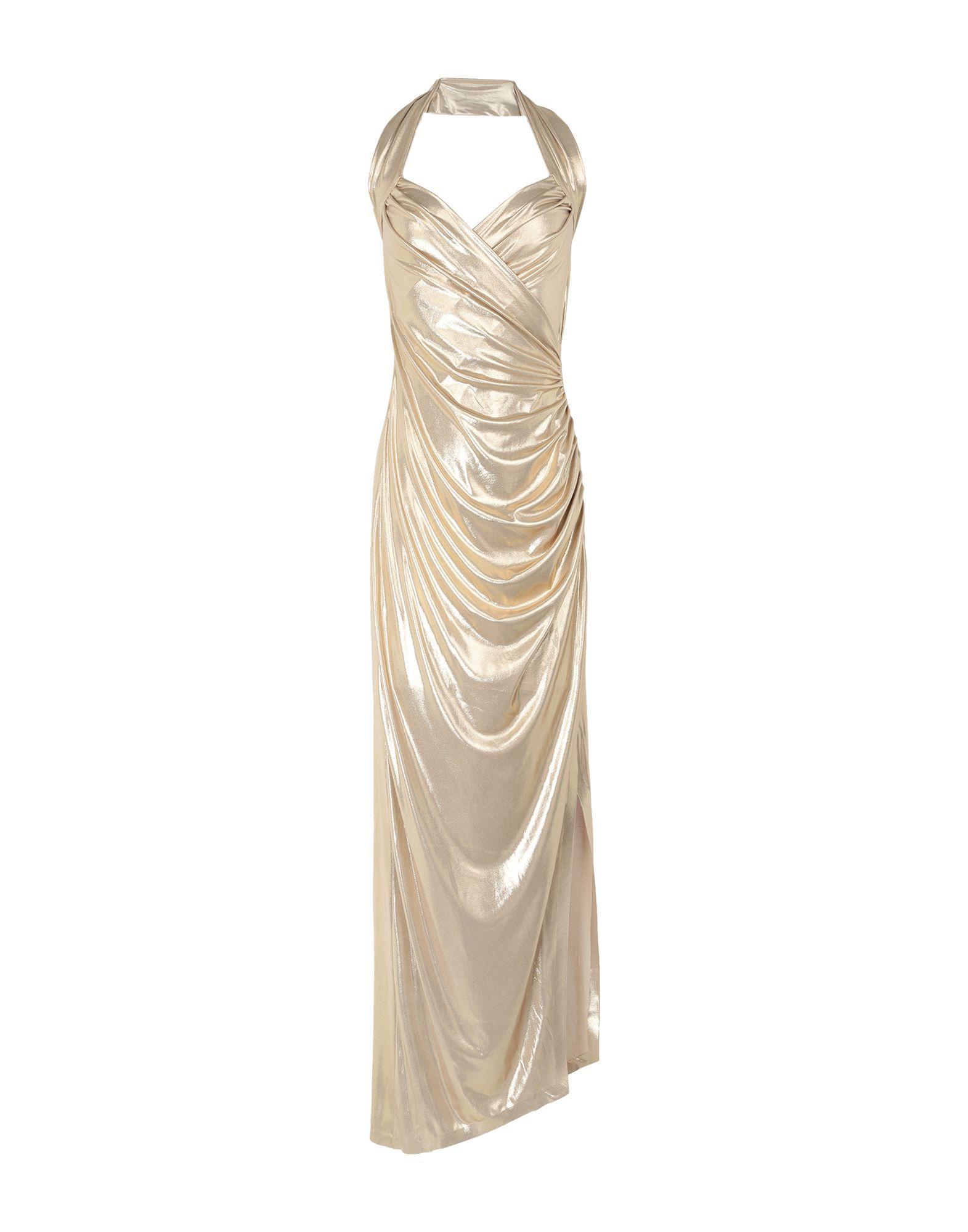 Norma Kamali Gold Full Length Draped Dress