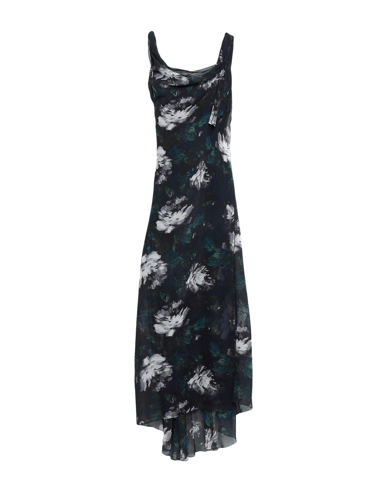 Patrizia Pepe Black Print Crepe Dress