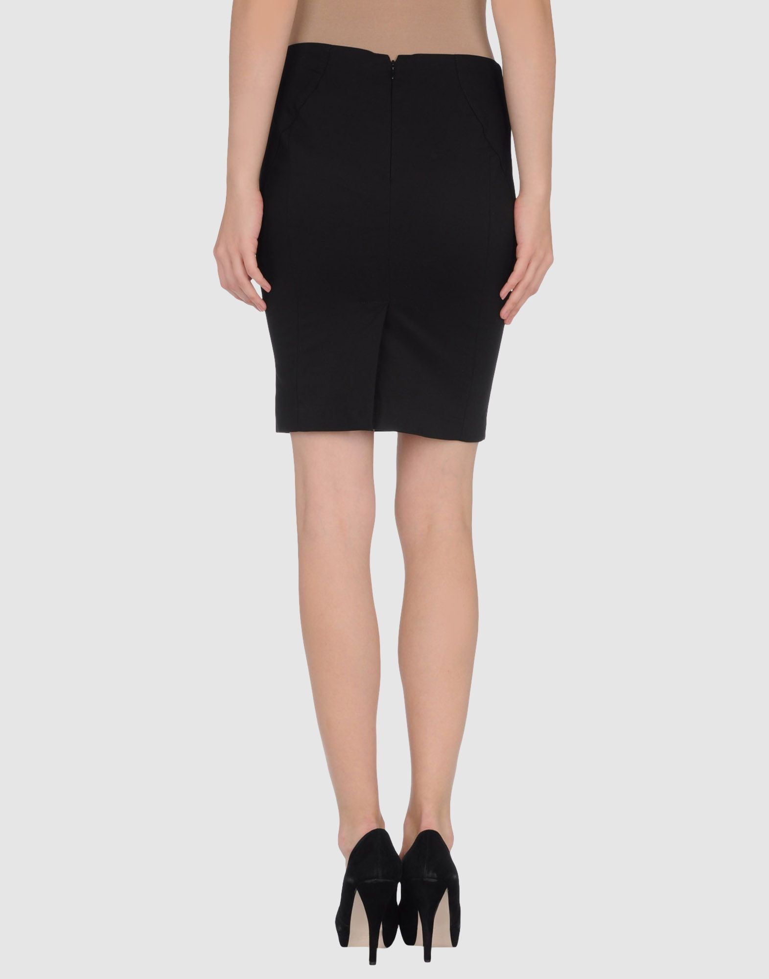 Twinset Black Cotton Skirt