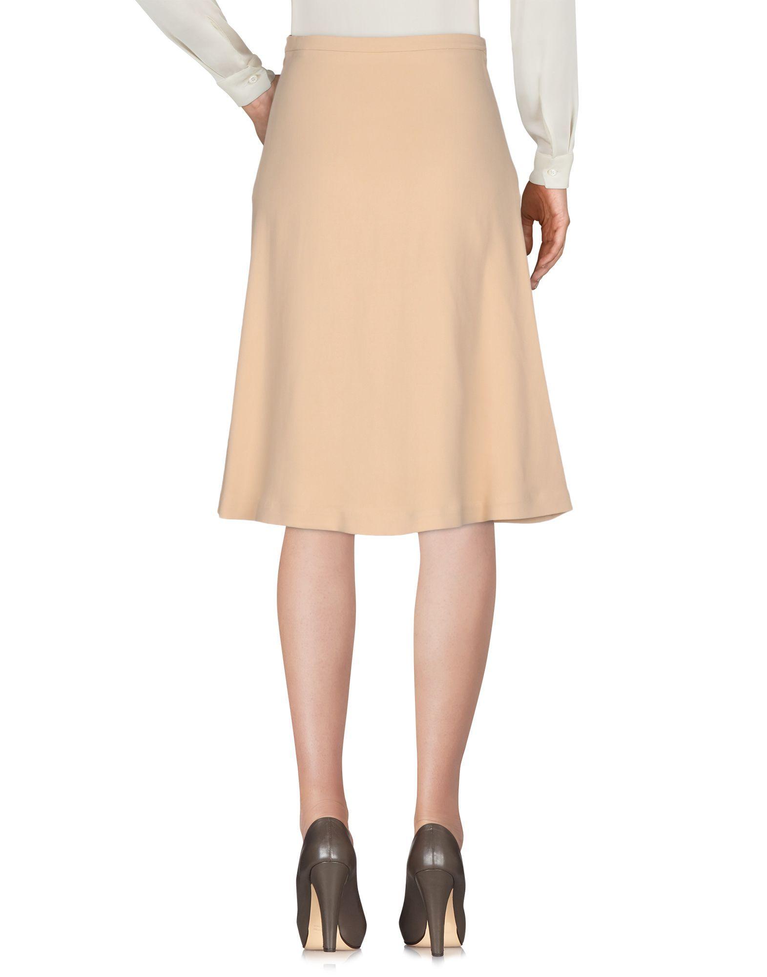 Elisabetta Franchi 24 Ore Sand Crepe Skirt