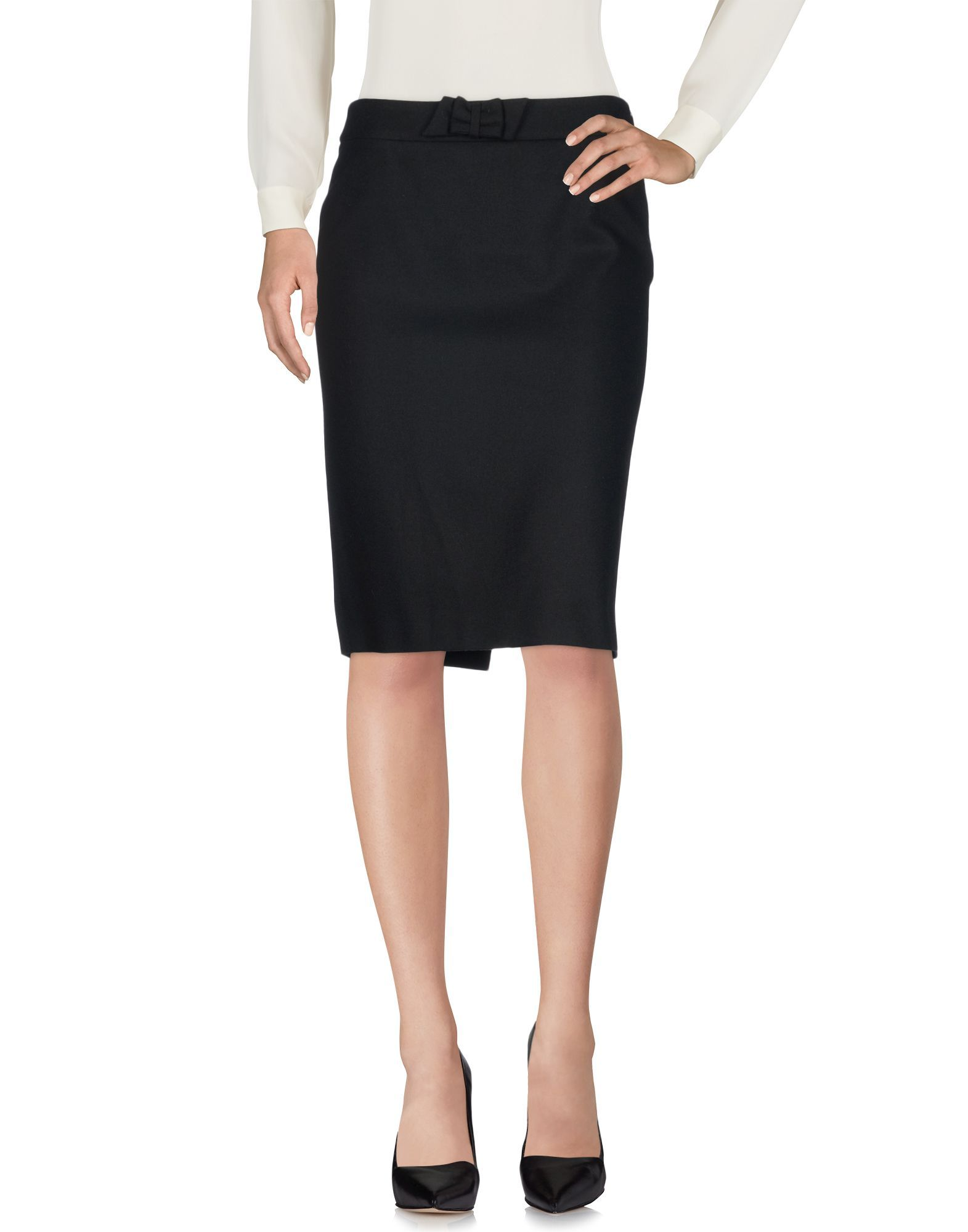 Mauro Grifoni Black Virgin Wool Skirt