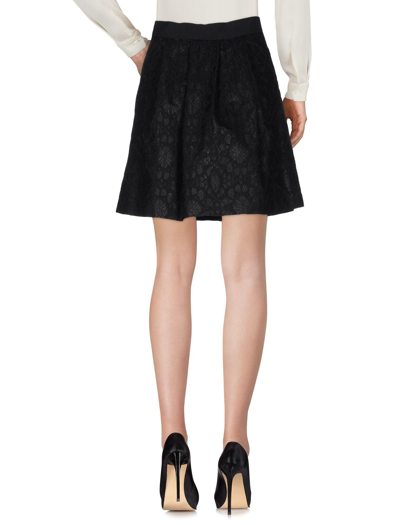 Pianurastudio Black Cotton Lace Skirt