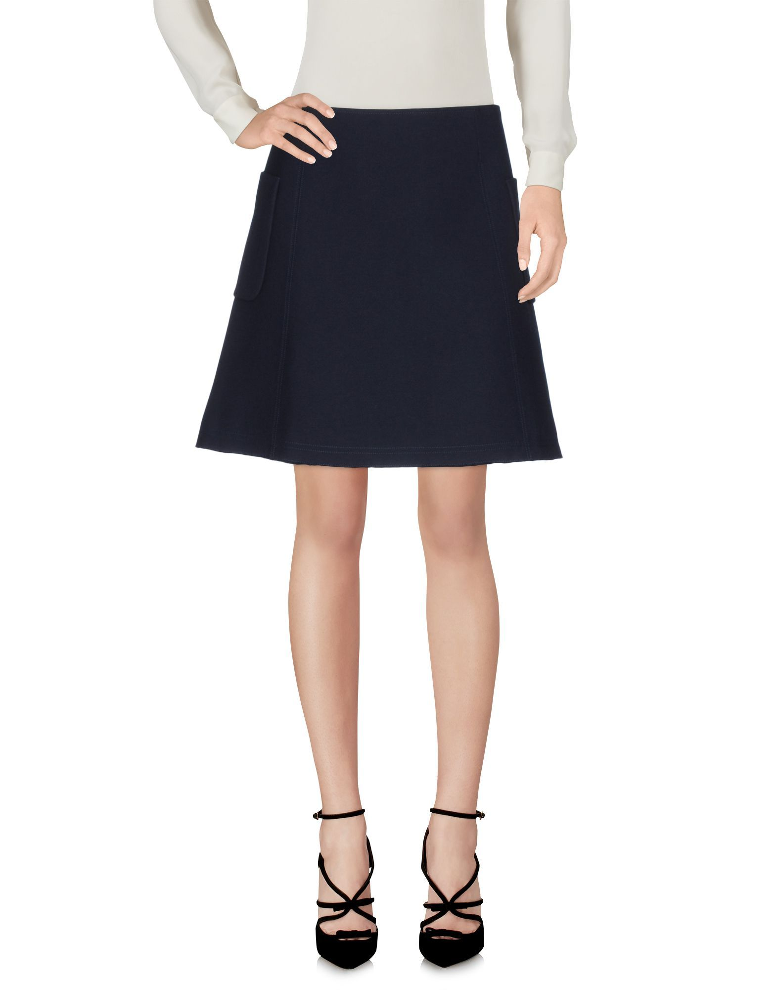 Wood Wood Dark Blue Cotton Skirt