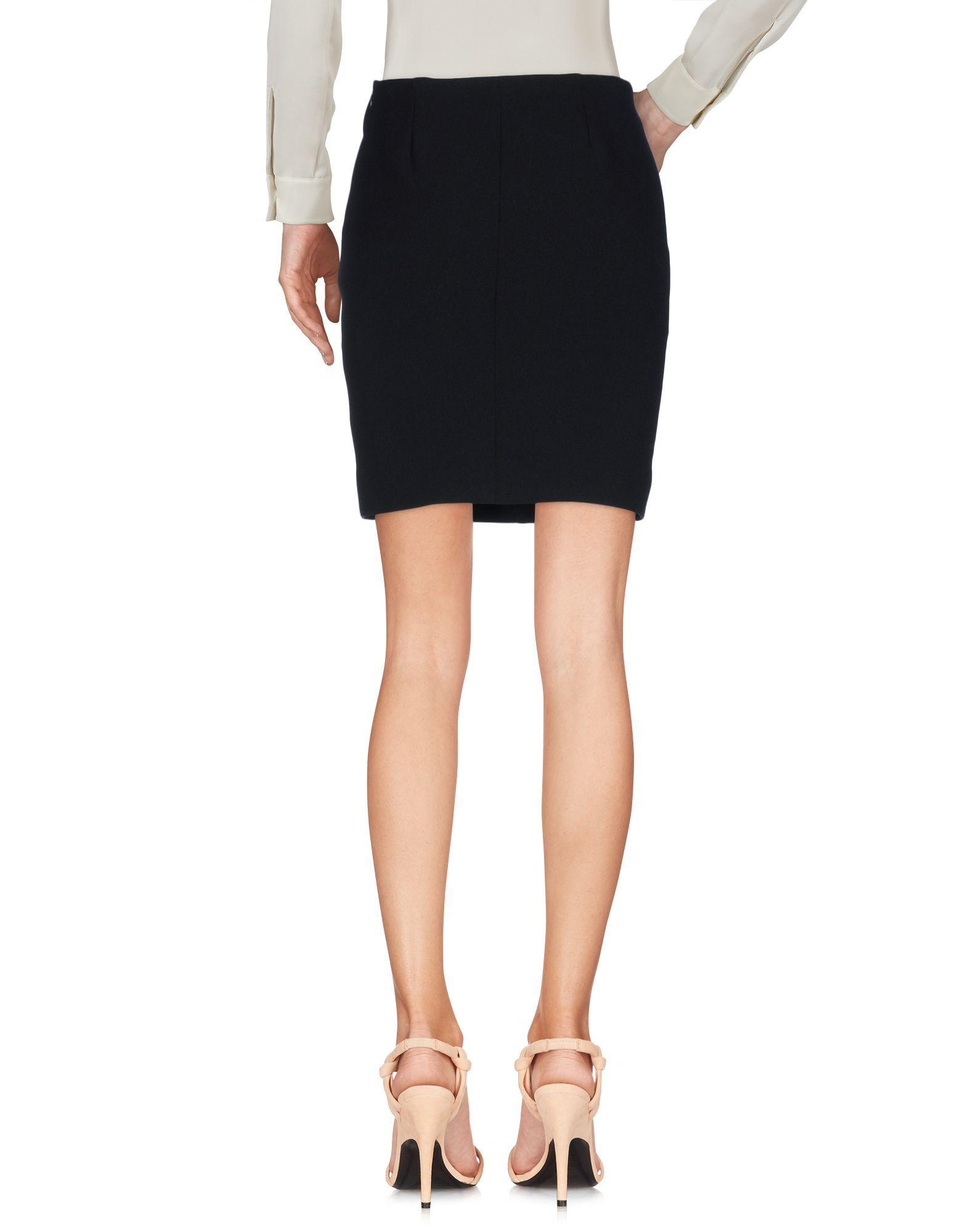 Iro Black Crepe Short Skirt