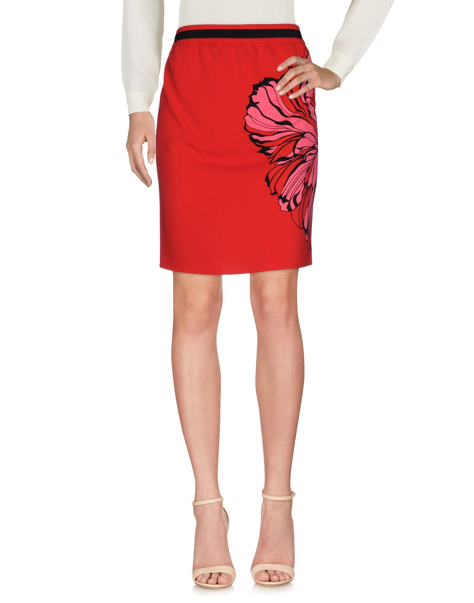 Liu Jo Red Print Short Skirt