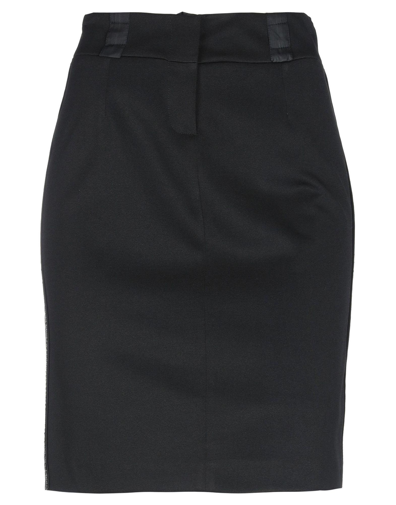 Pianurastudio Black Pencil Skirt