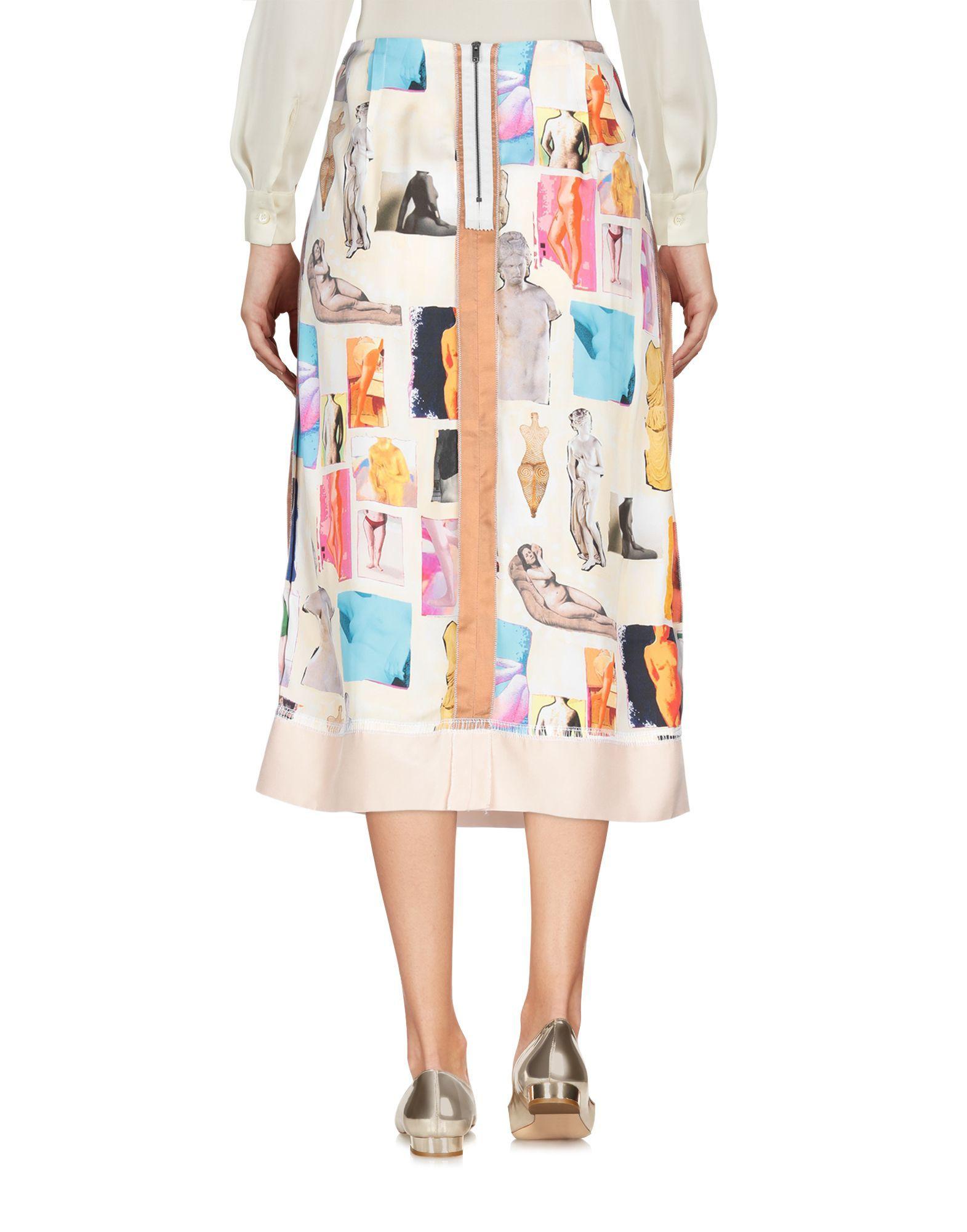 Marni Light Yellow Print Skirt