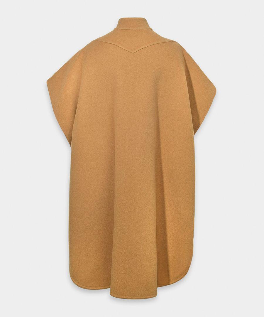 Beige wool blend shirt