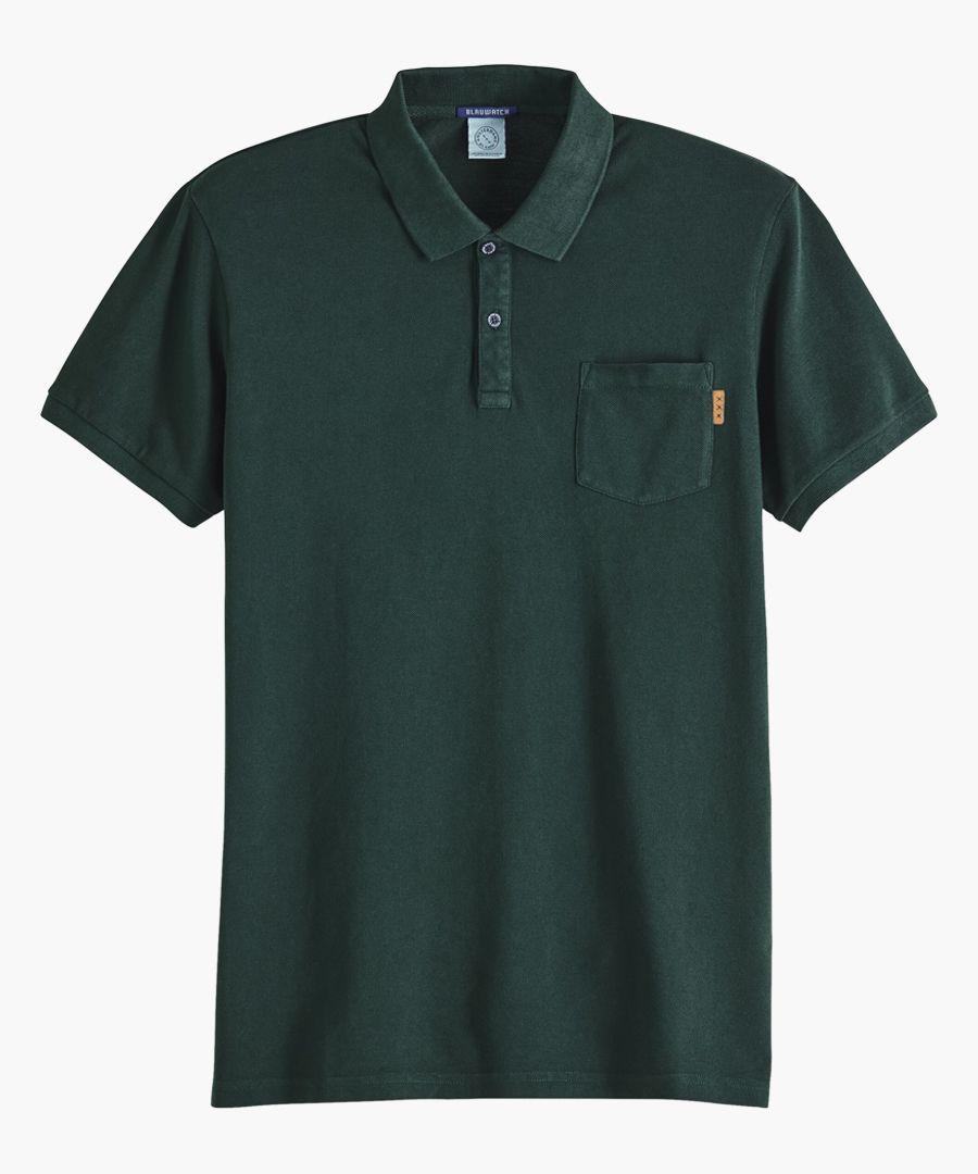Blauw green dream polo shirt