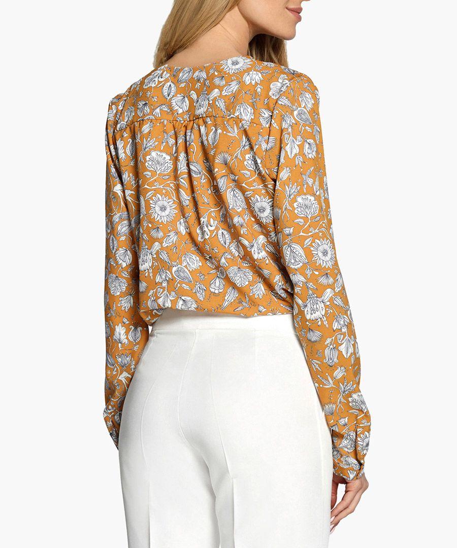 Dark yellow blouse