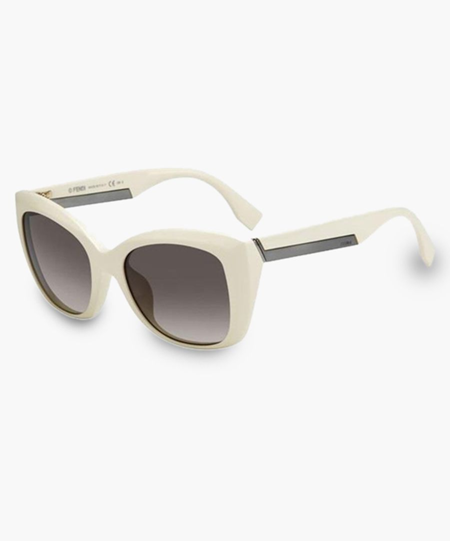 Ivory and brown gradient sunglasses