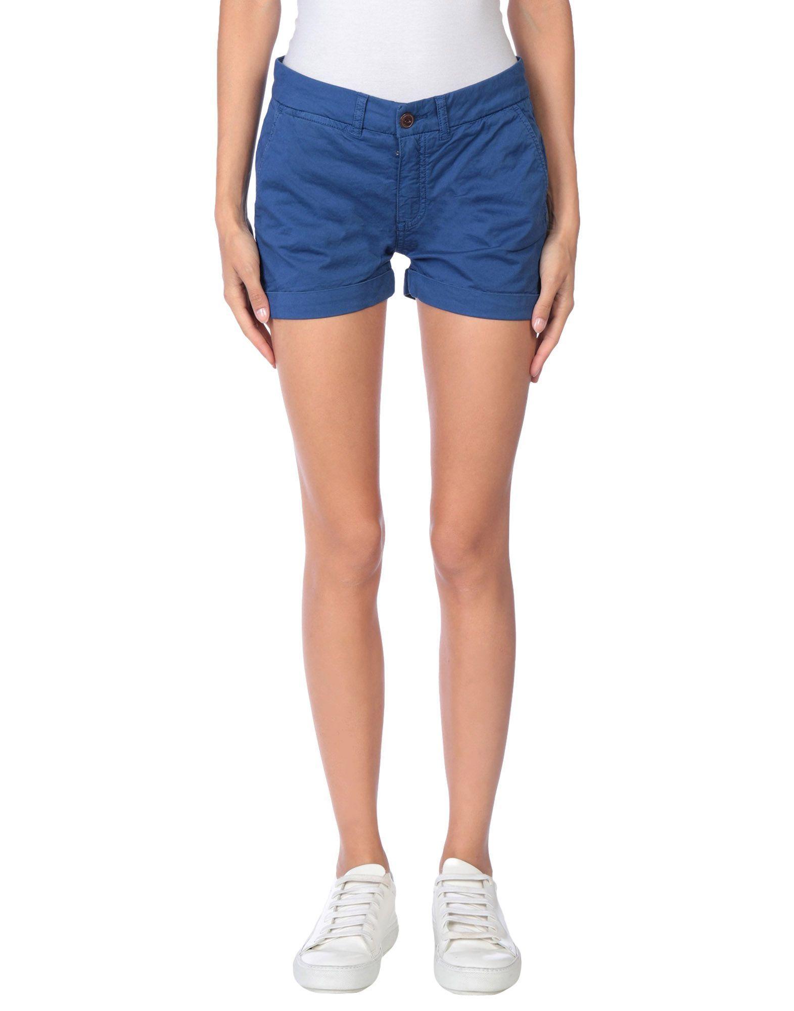 Franklin & Marshall Blue Cotton Shorts