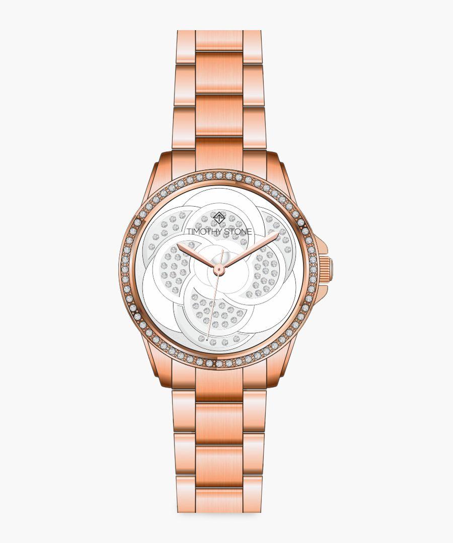Katy rose gold-tone watch