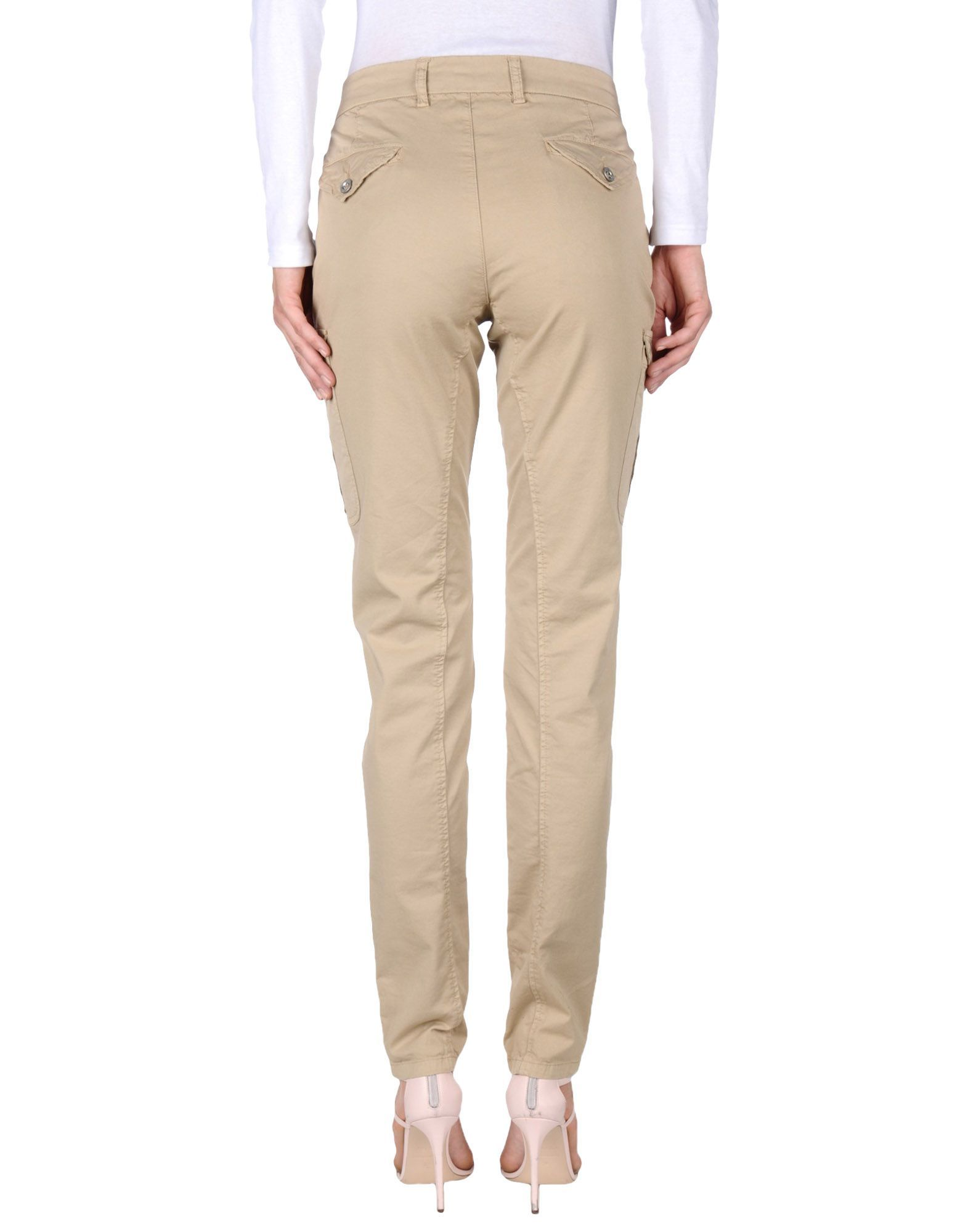 Beige mid-rise stretch-cotton gabardine tapered trousers