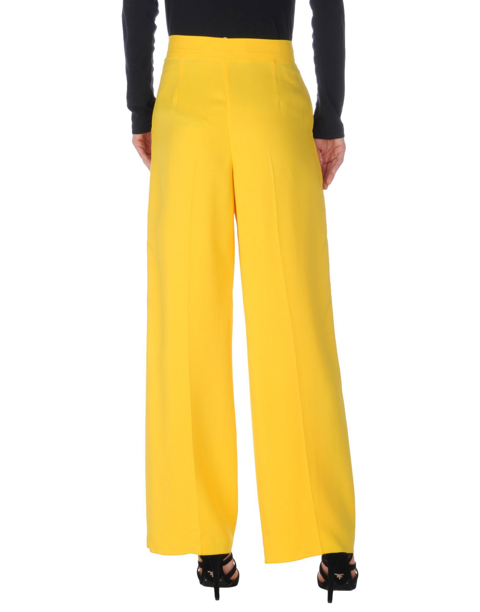 M Missoni Yellow Crepe Wide Leg Trousers