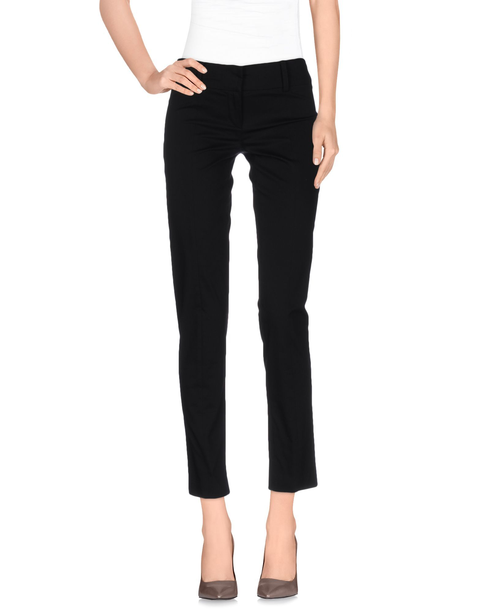 Patrizia Pepe Black Cotton Trousers