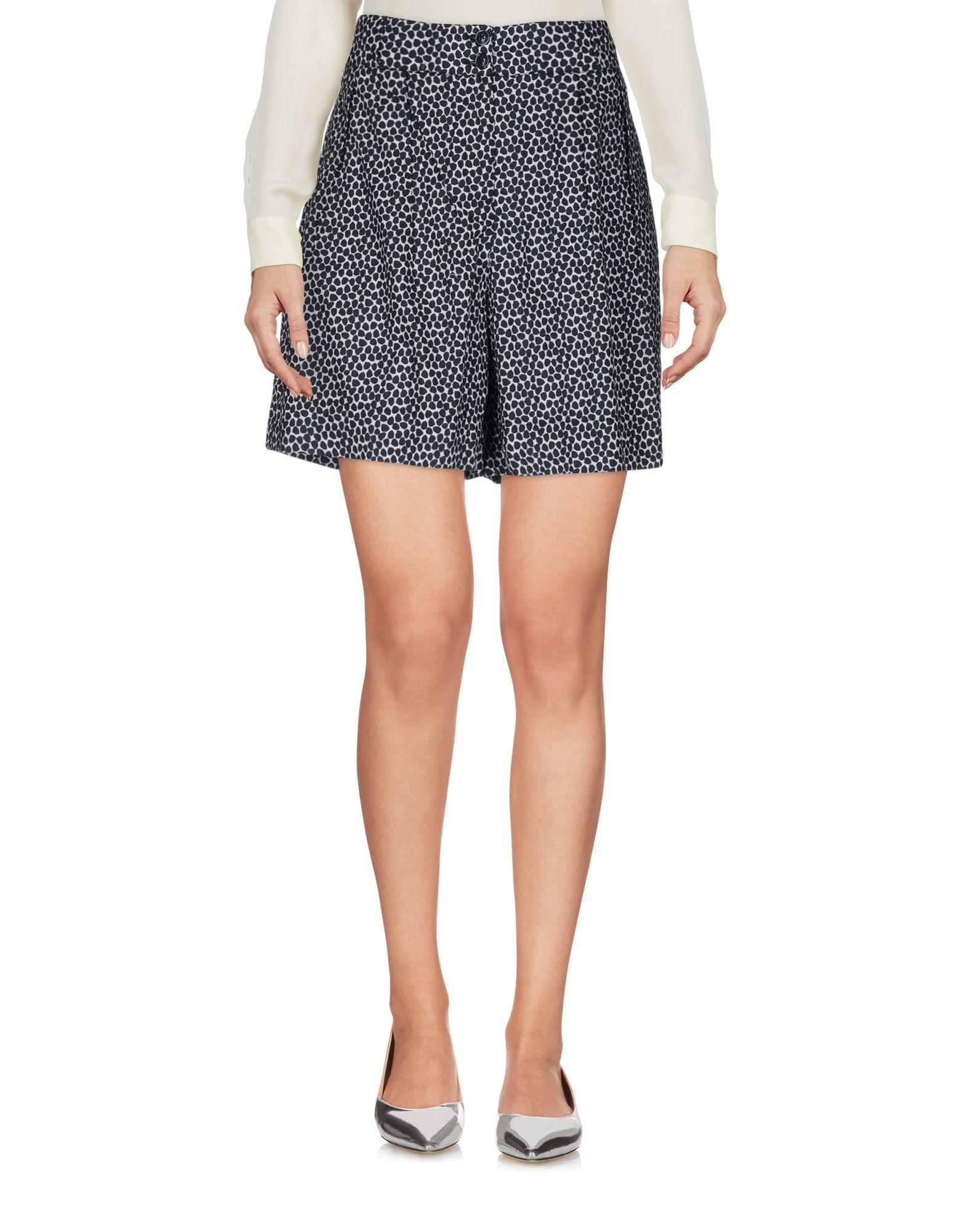 Woolrich Dark Blue Print Cotton Skirt