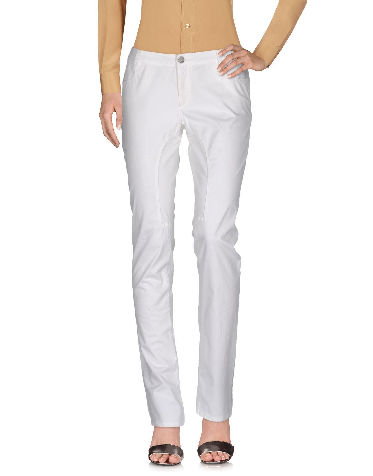 Siviglia White Cotton Trousers