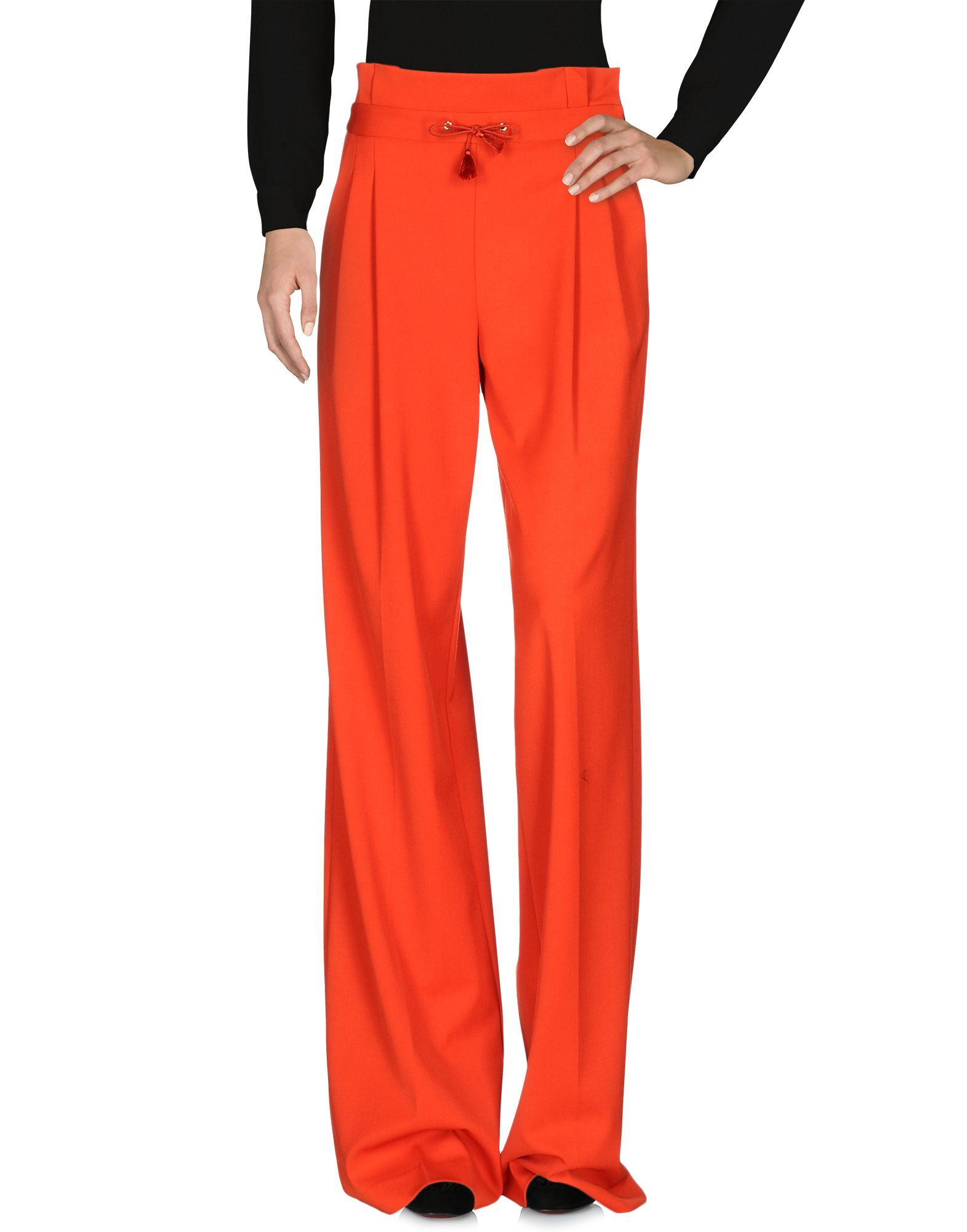 Mangano Red Wide Leg Trousers