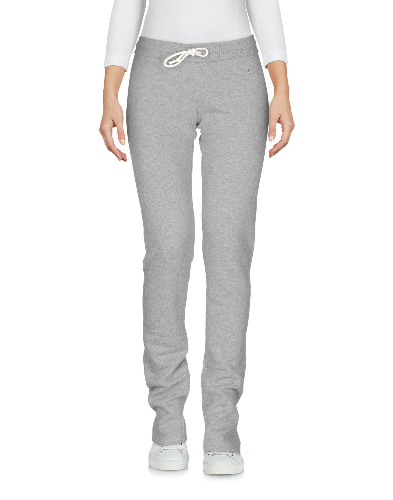 Nike Woman Light grey Casual trousers