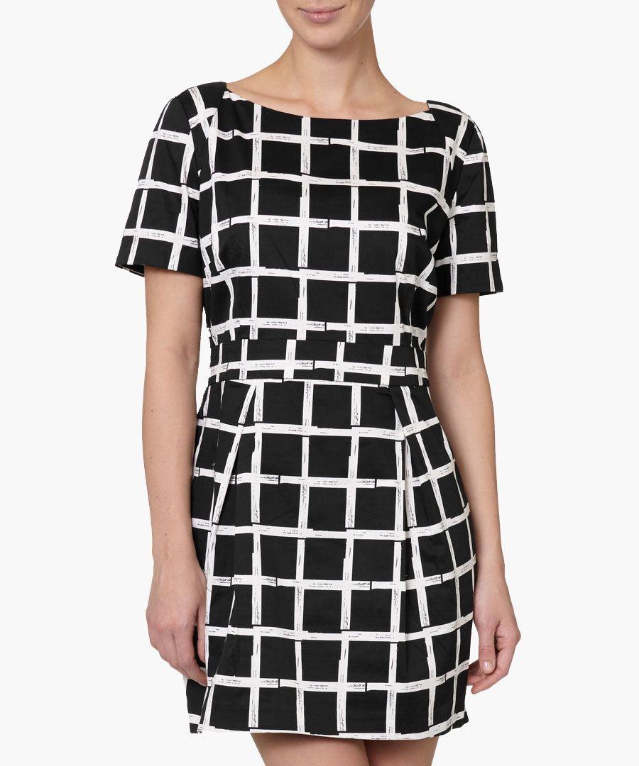 Paintcheck Richie cotton-blend dress