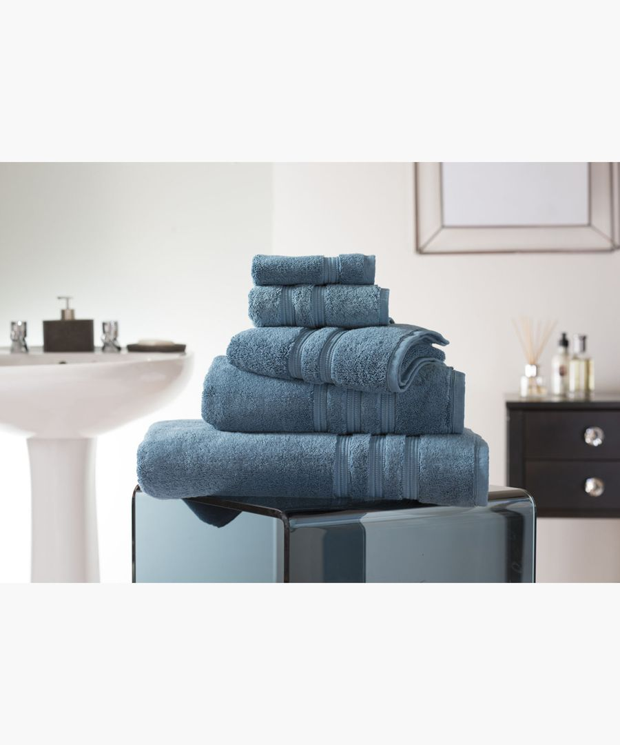 Petrol Turkish pima cotton hand towel