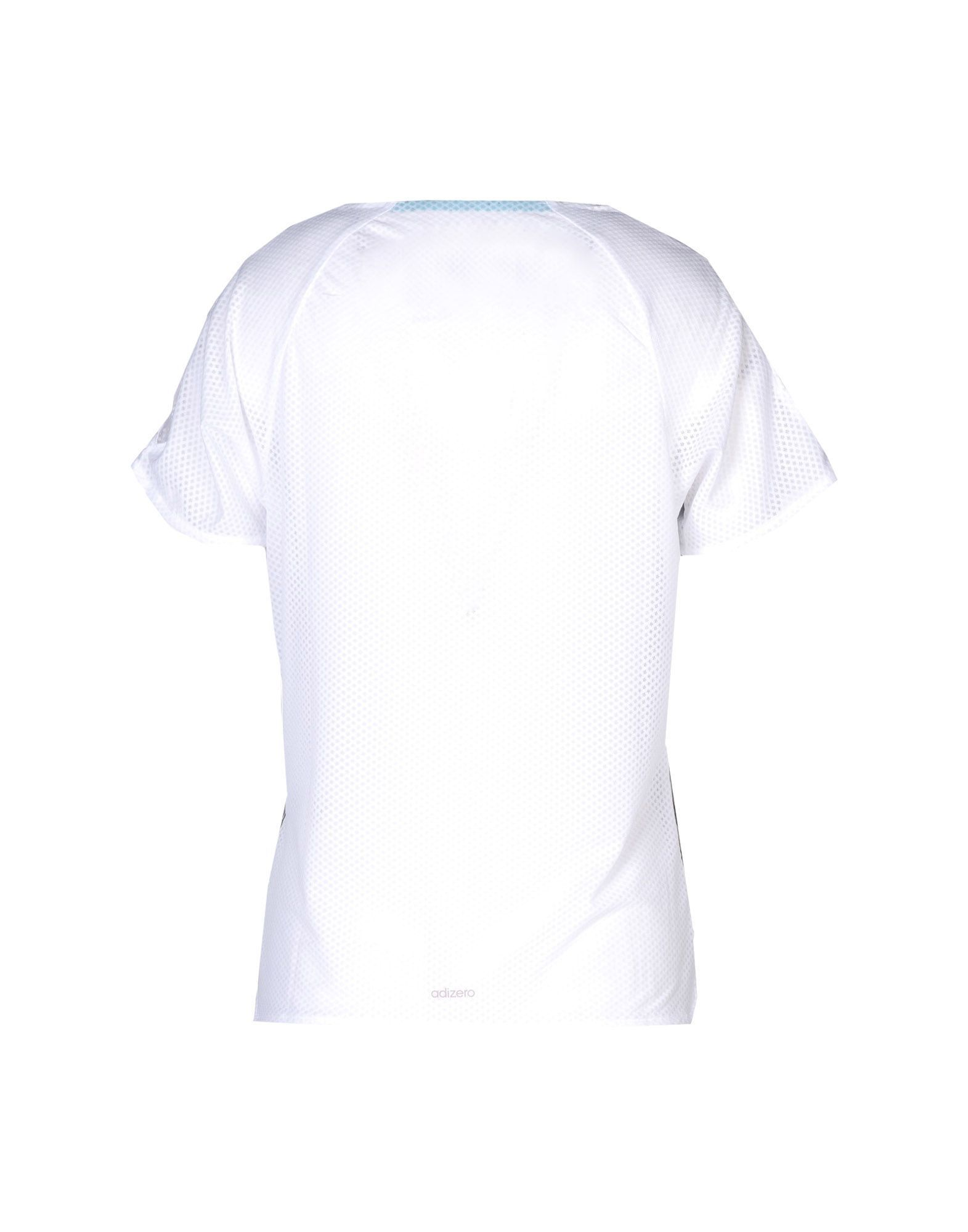 Adidas White Polyester T-shirts