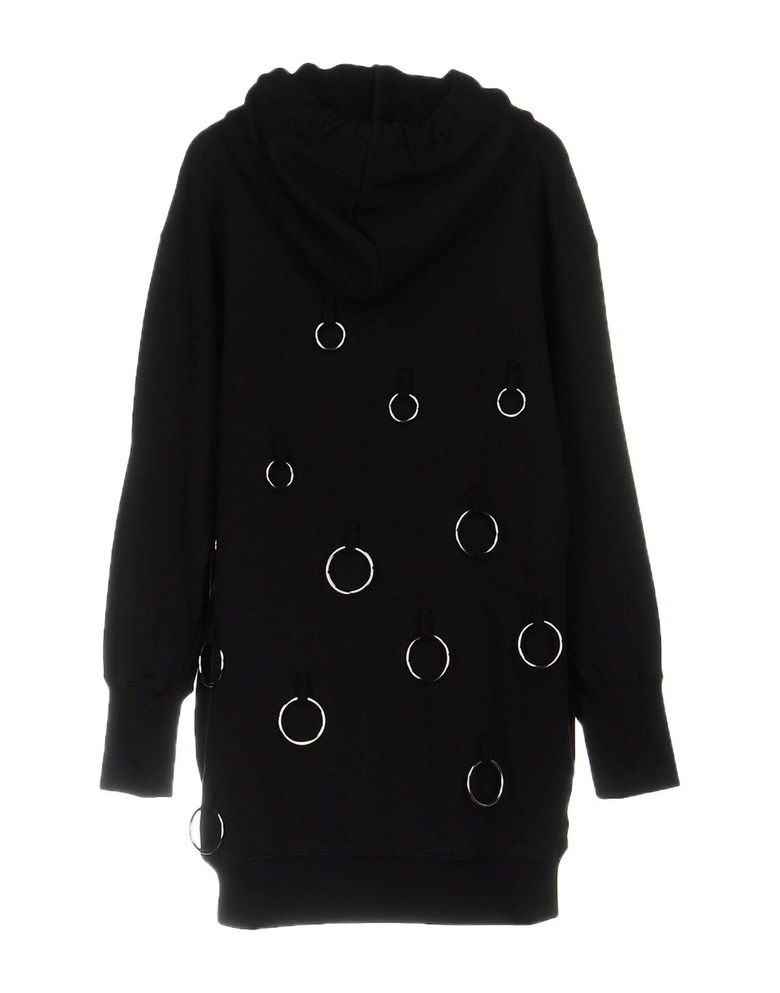 MSGM Black Cotton Sweatshirt Dress