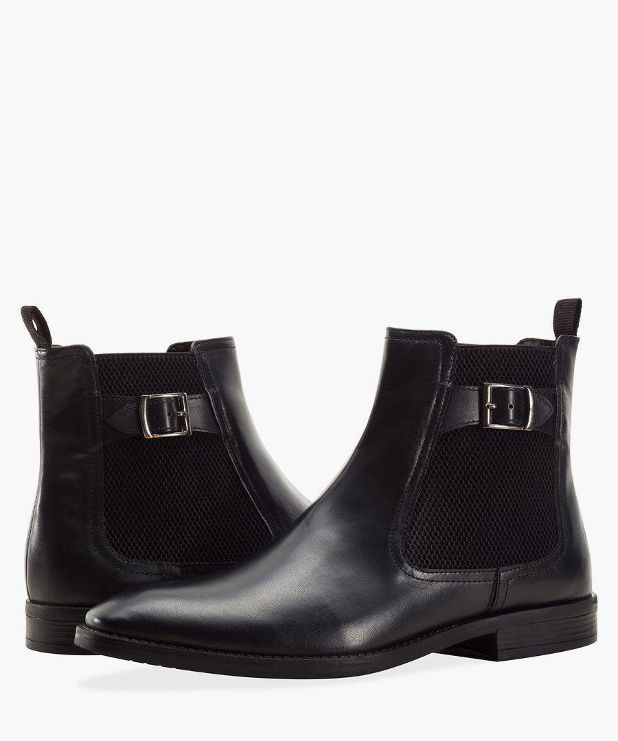 Black rubber Chelsea boots