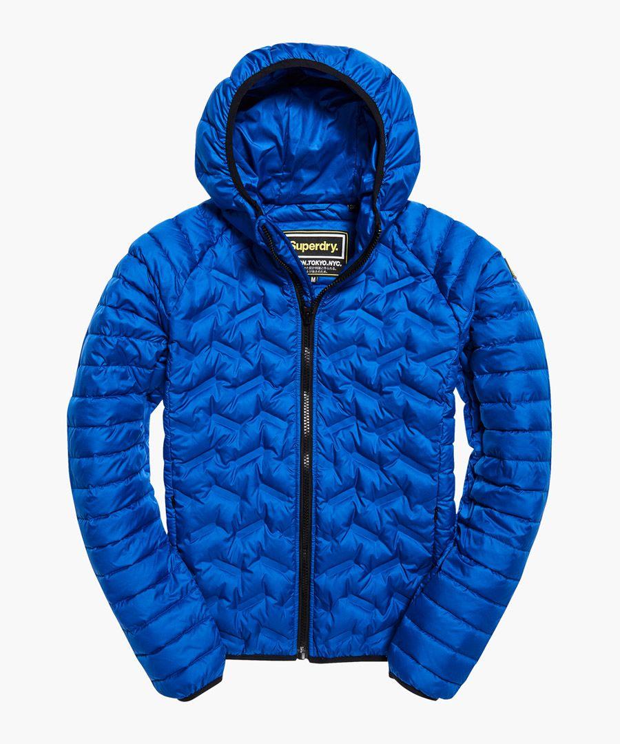 Down Radar blue quilted jacket