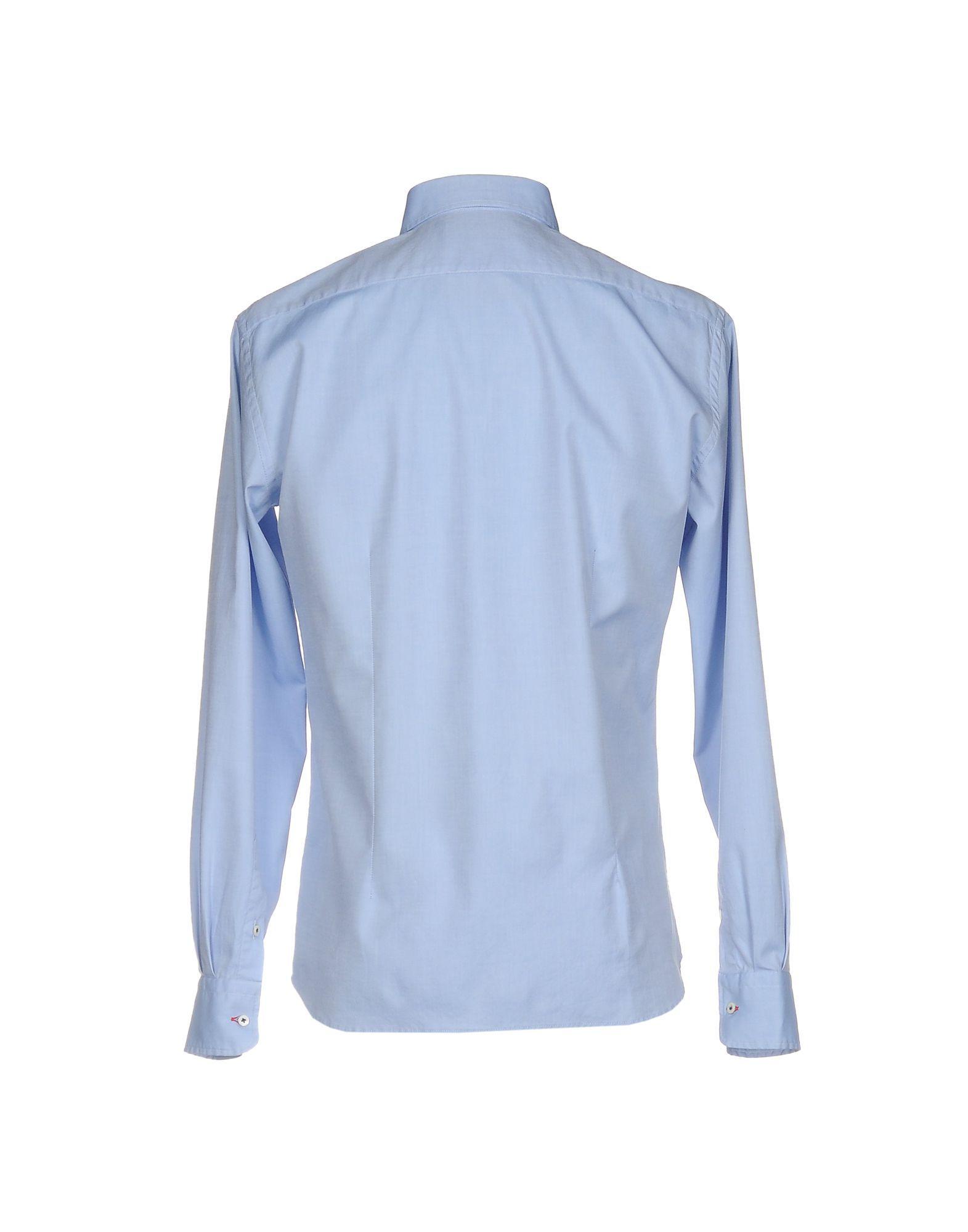 Aglini Sky Blue Cotton Shirt