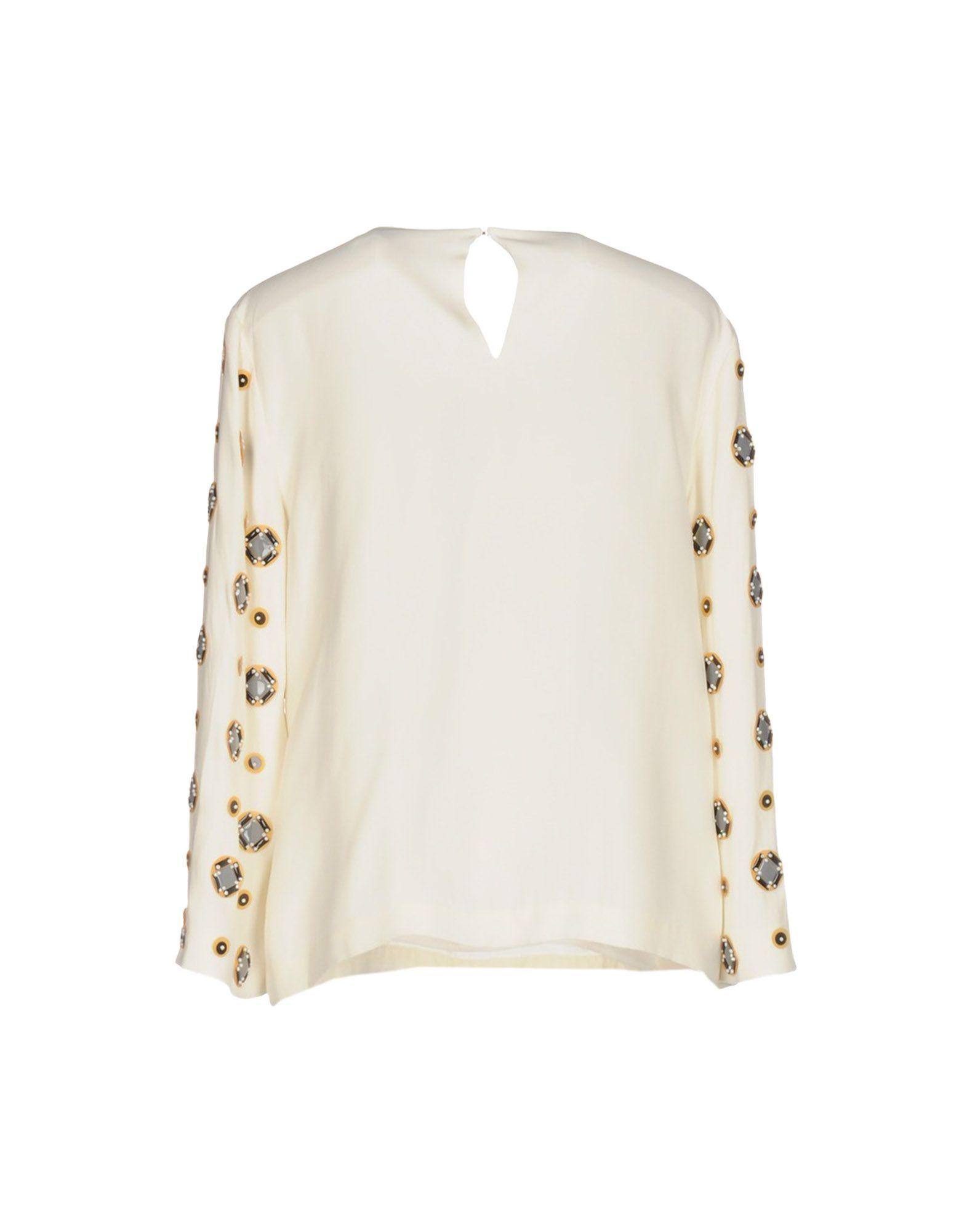 Diane Von Furstenberg Ivory Silk Blouse
