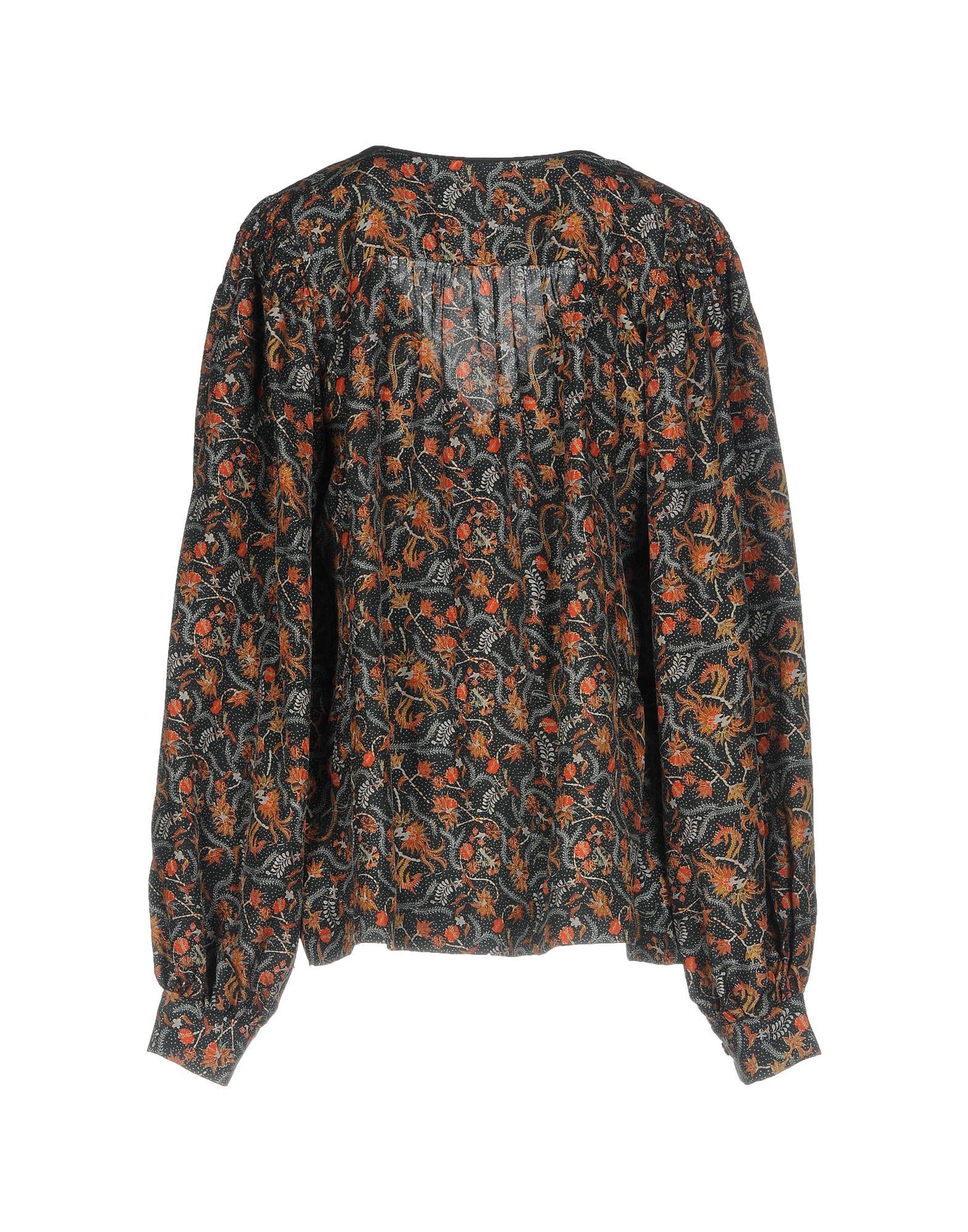 Isabel Marant Lead Print Silk Blouse