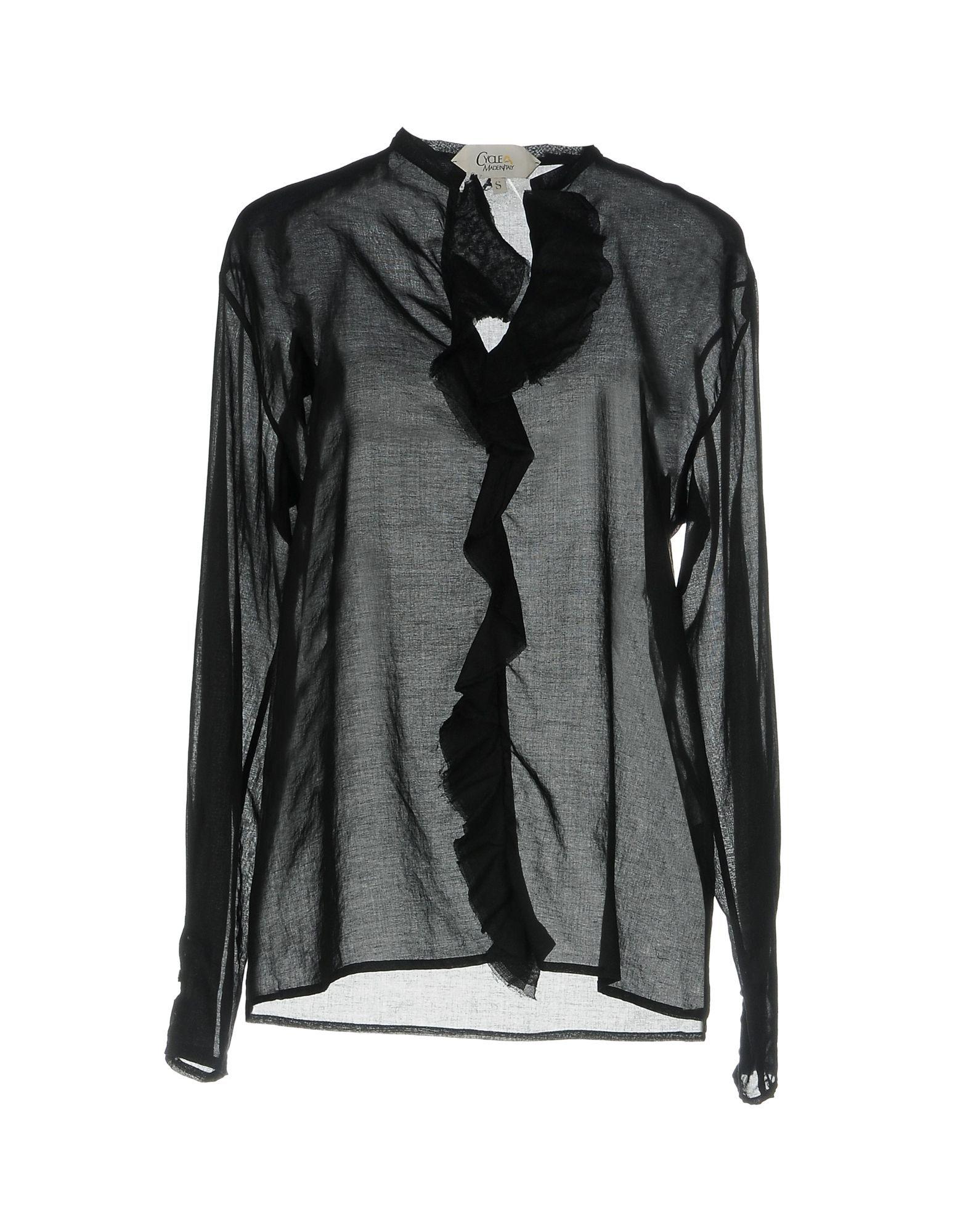 Cycle Black Cotton Shirt