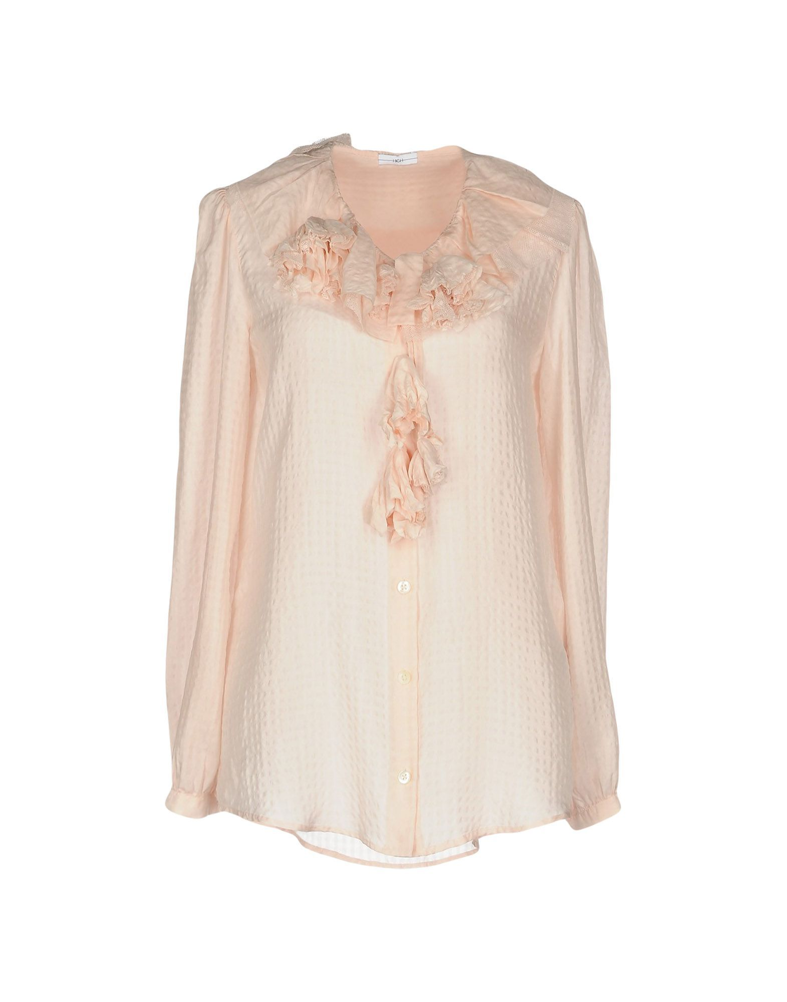 High By Claire Campbell Woman Pink Shirts