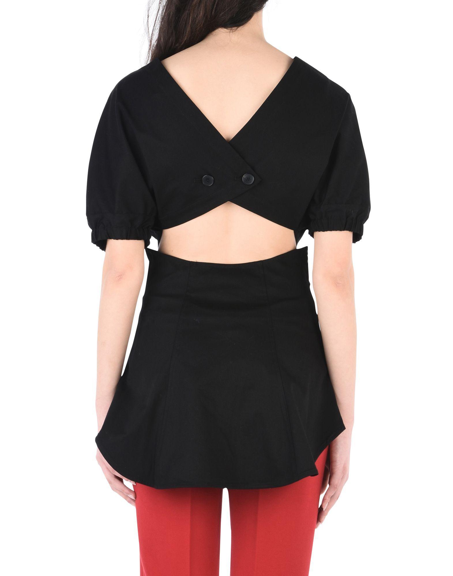 Tome Black Cotton Bluse