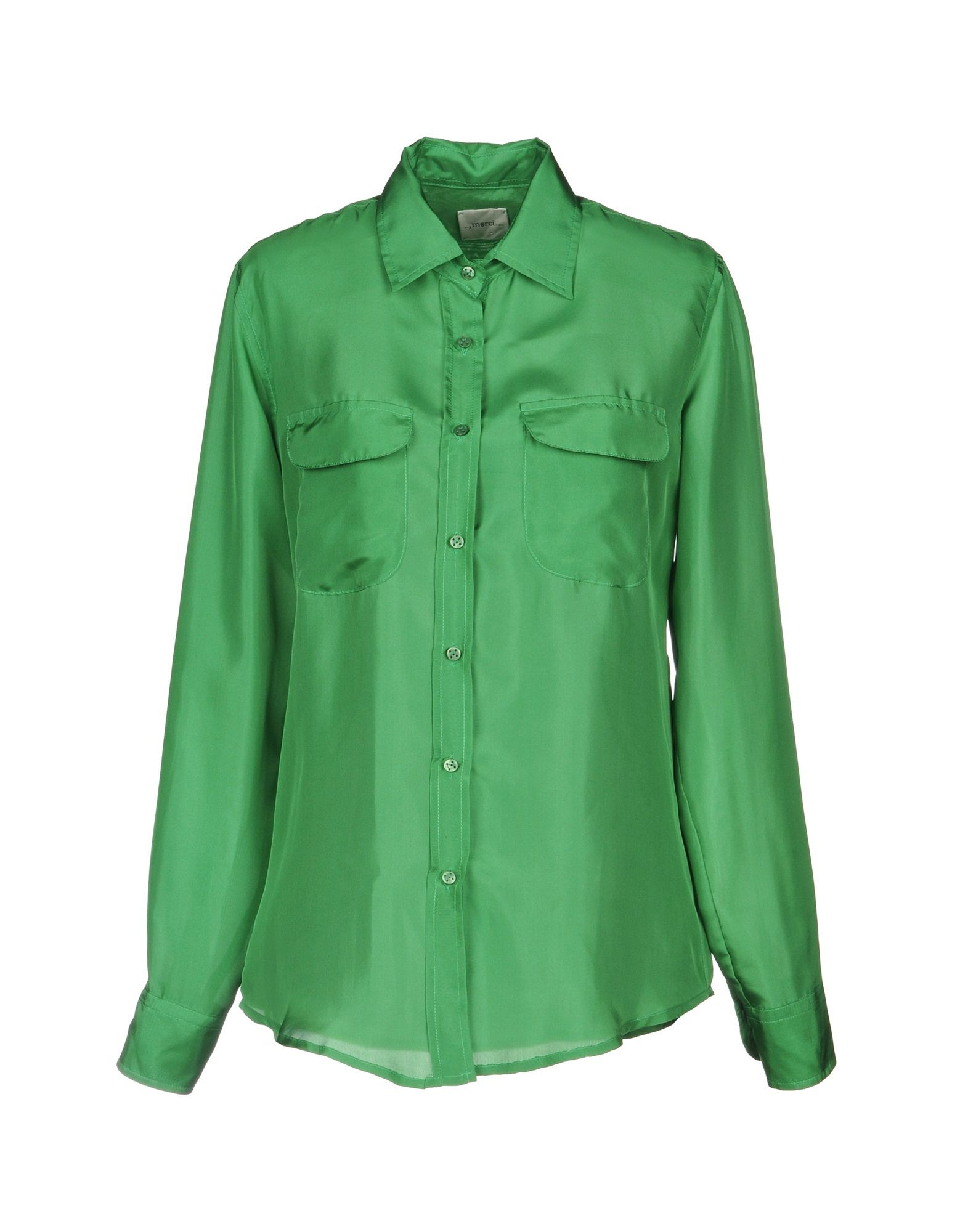 Merci Green Silk Blouse
